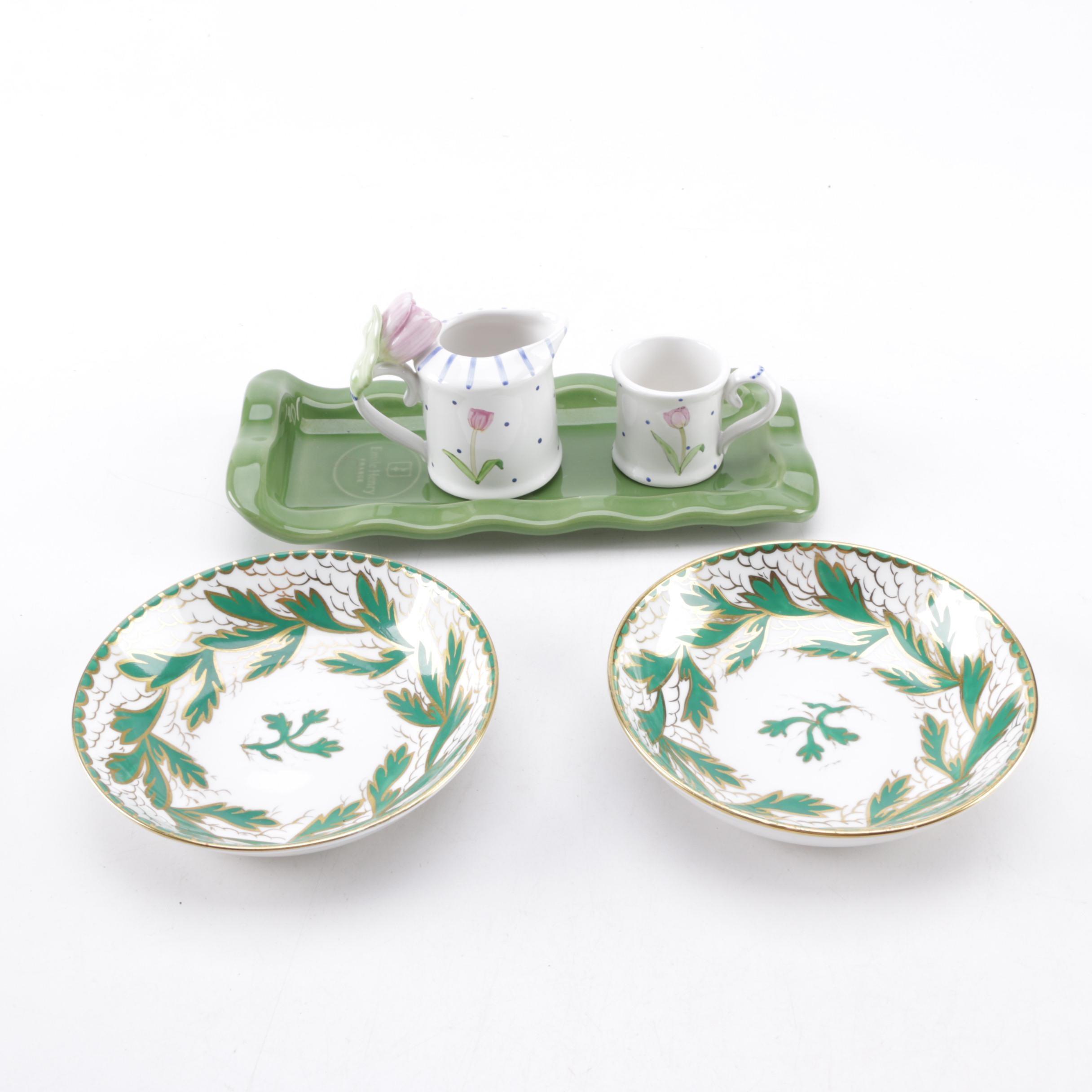 Ceramic and Porcelain Serveware Including Emile Henry