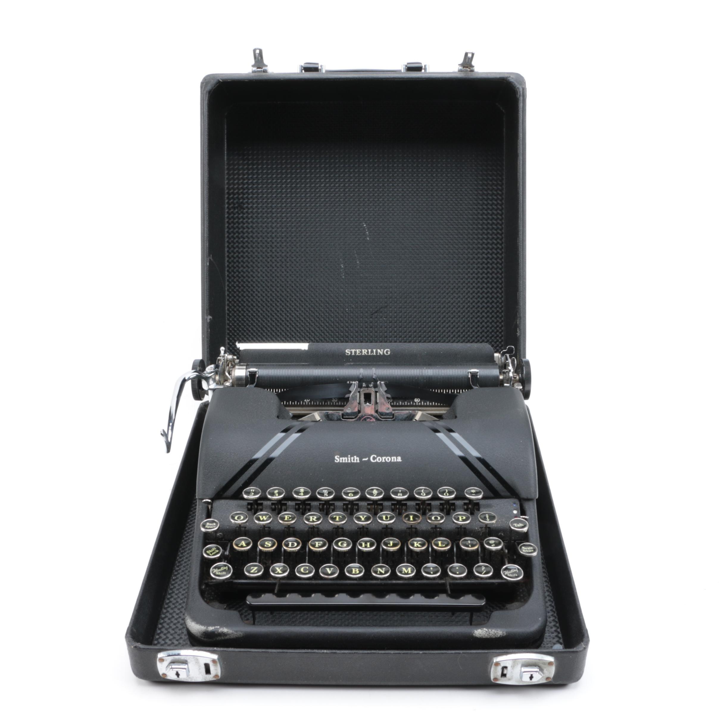 "Smith-Corona ""Sterling"" Typewriter"