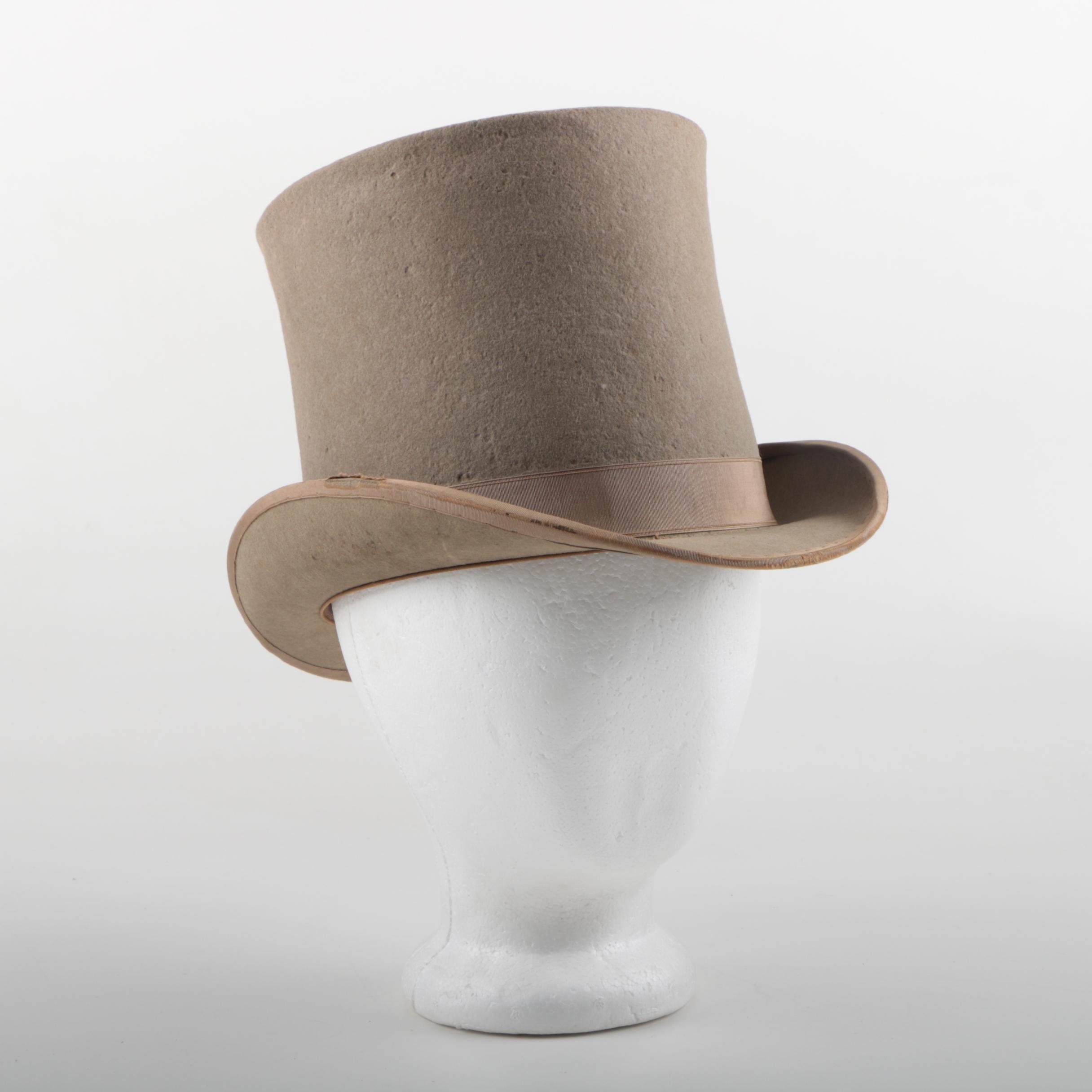 Men's Vintage Premier Suel Felted Top Hat