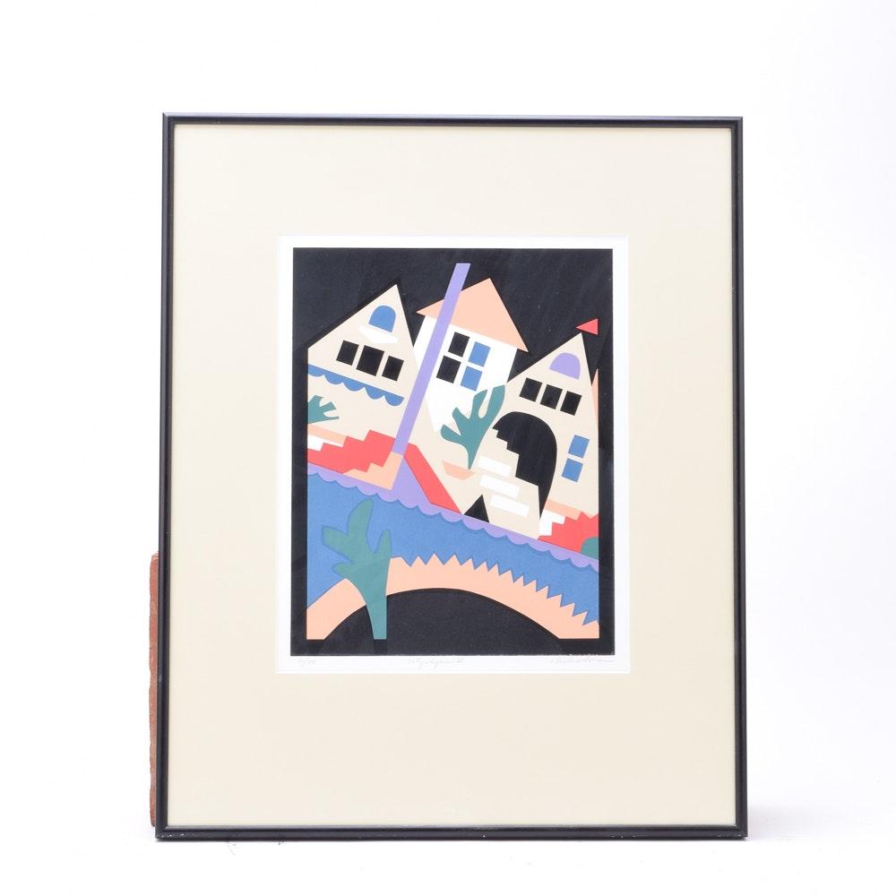 "Richard Conn Limited Edition Serigraph ""Cityshapes III"""