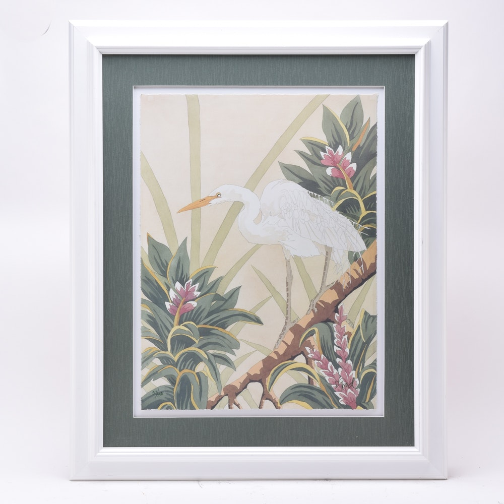"Dan Goad Limited Edition Print ""Egret"""