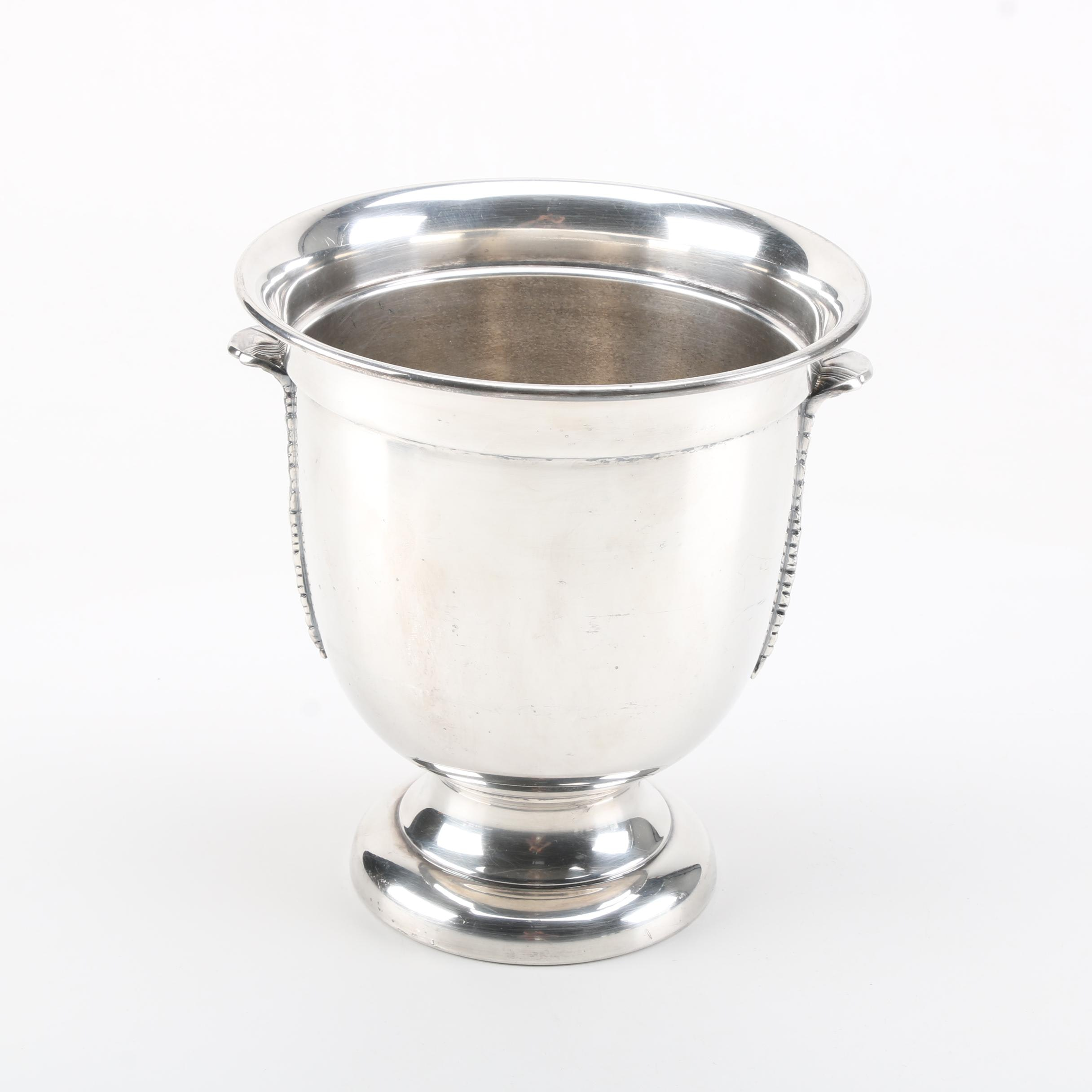 The Sheffield Silver Co. Silver Plate Acanthus Leaf Champagne Cooler