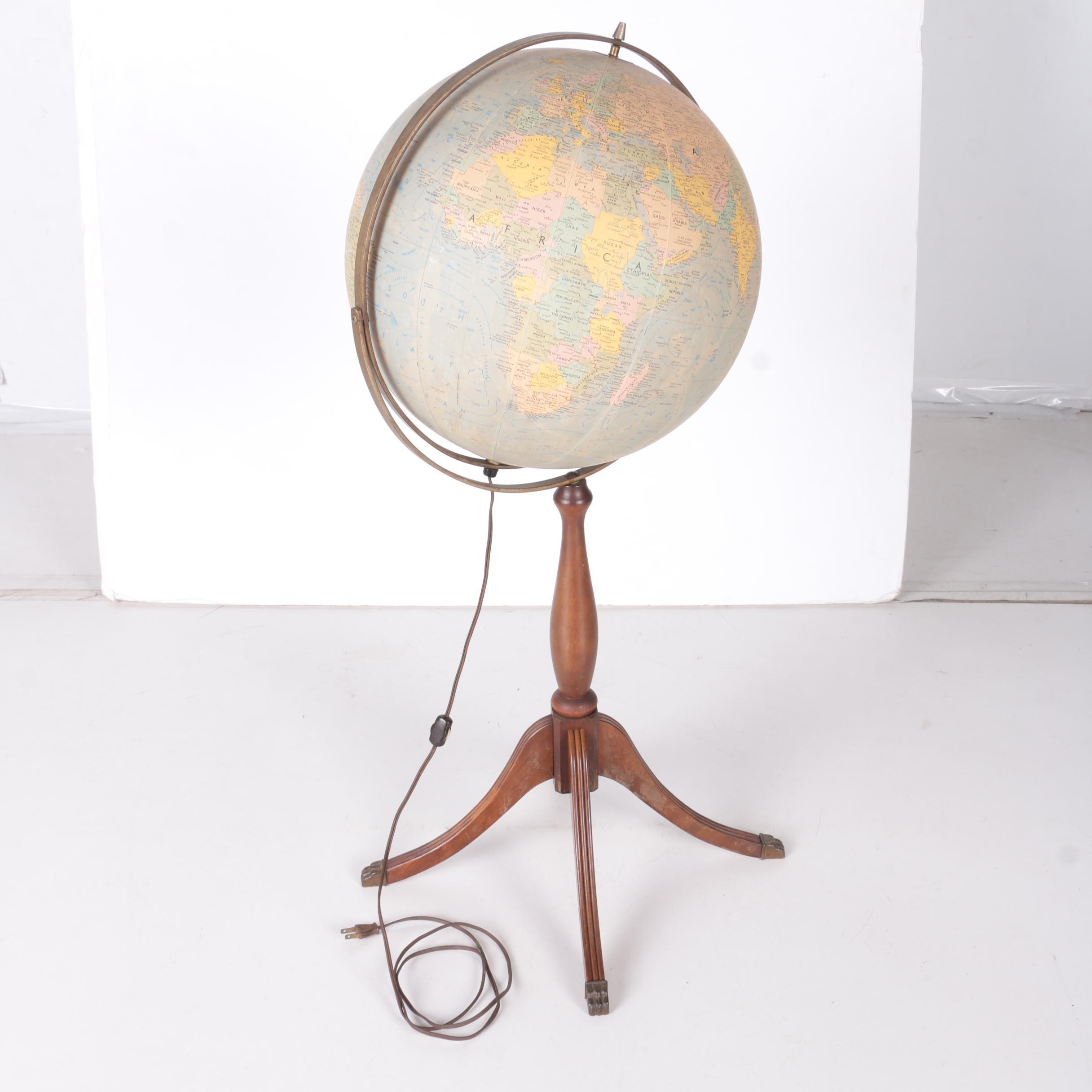 Replogle Light Up World Globe on Wooden Stand