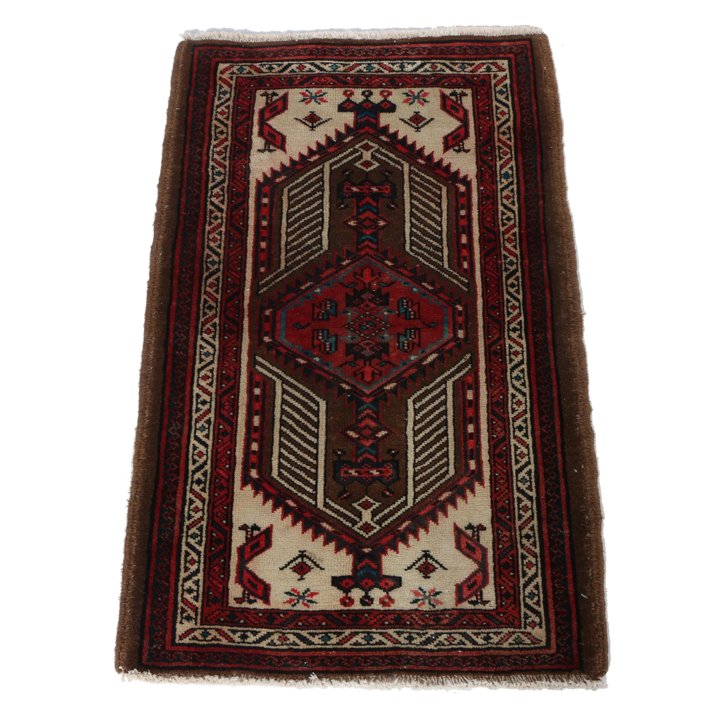 Hand-Knotted Persian Sarab Accent Rug