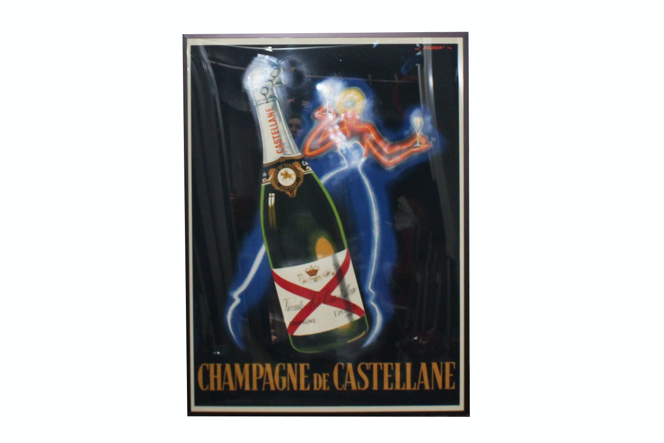 Offset Lithograph Poster ''Champagne De Castellane'