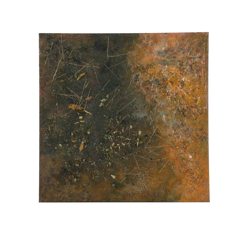 Louis Papp Abstract Mixed Media Painting on Canvas of Abstract Composition