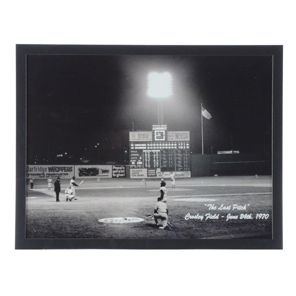 Crosley Field Last Pitch Photo Print