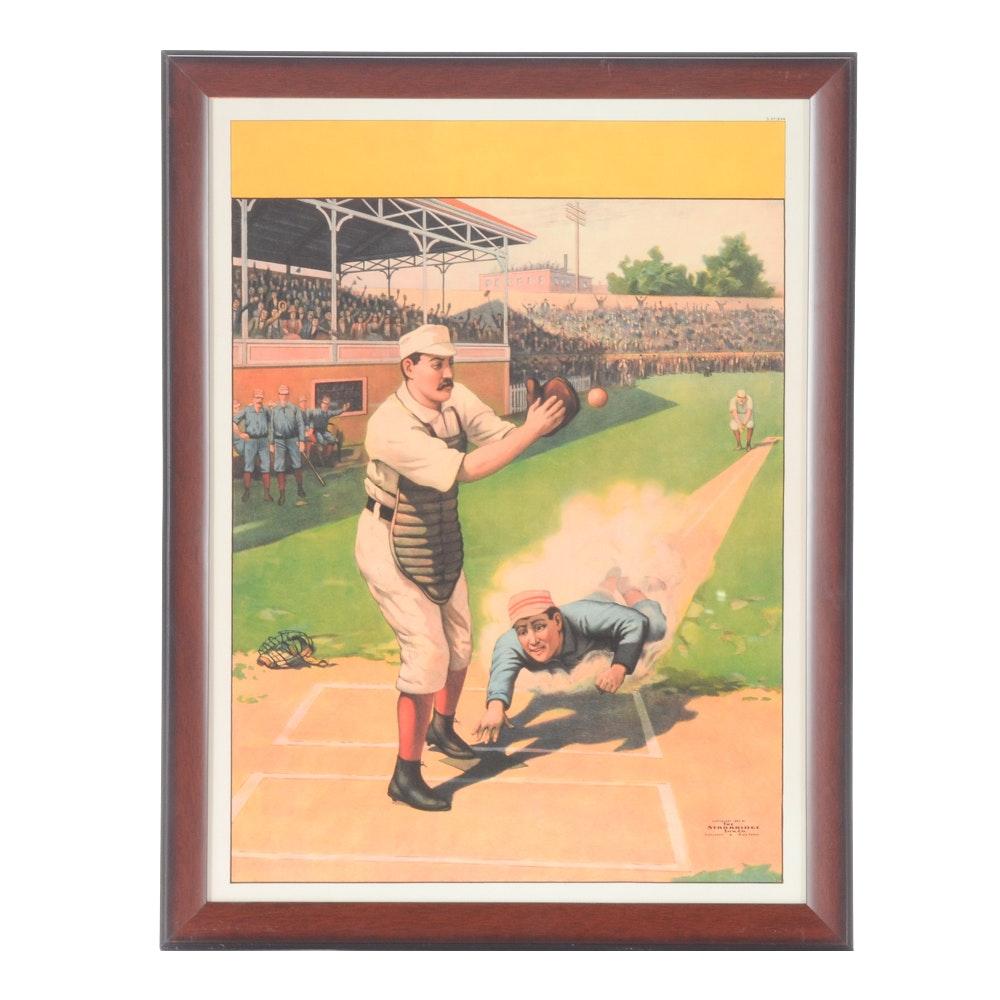 Framed Baseball Print