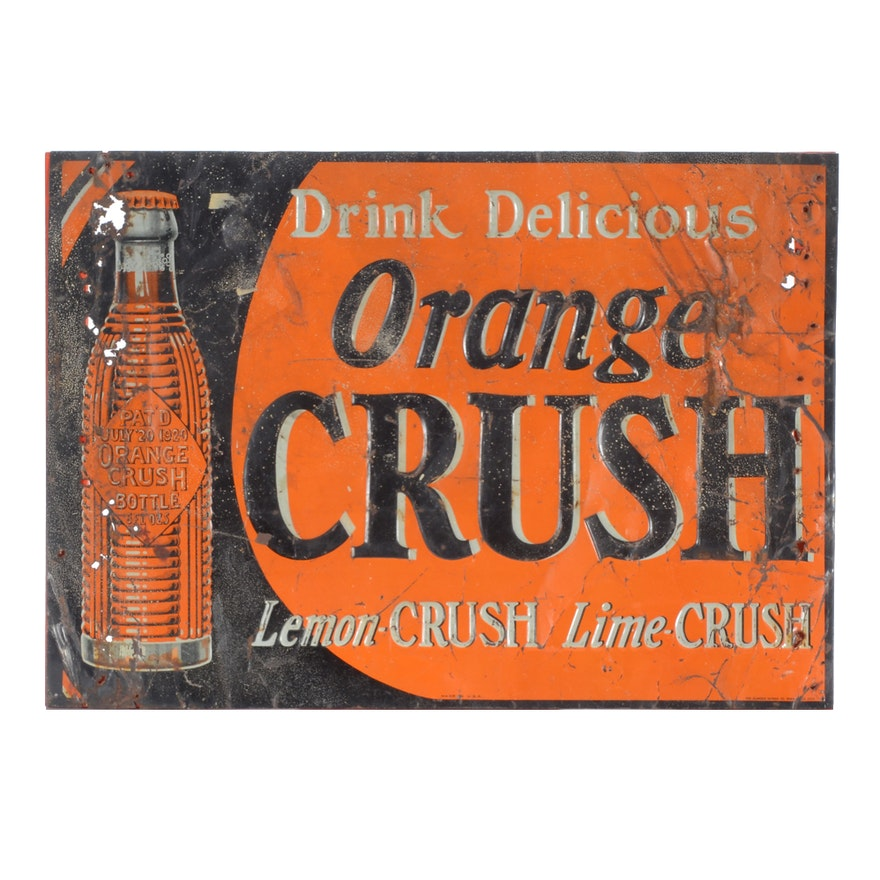 Vintage Orange Crush Sign
