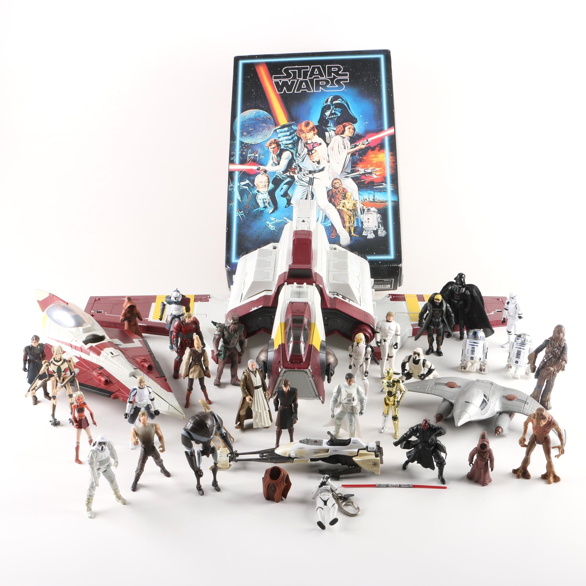 "1990s-2000s ""Star Wars"" Ships and Action Figures"