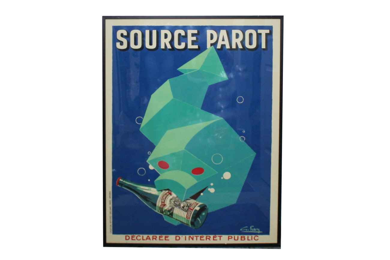 "Offset Lithograph After Advertisement ""Source Parot"""