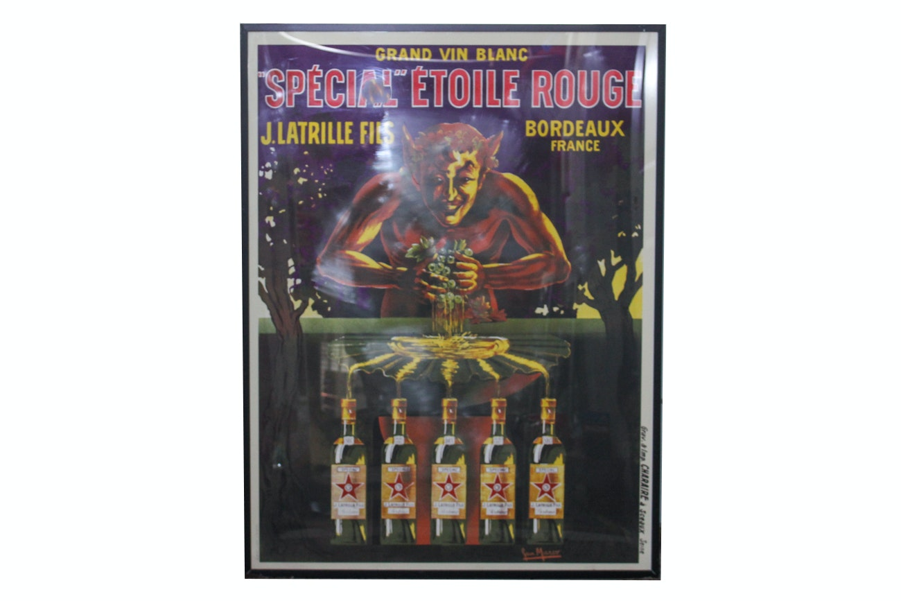 Offset Lithograph Poster After a Spécial Étoile Rouge Advertisement