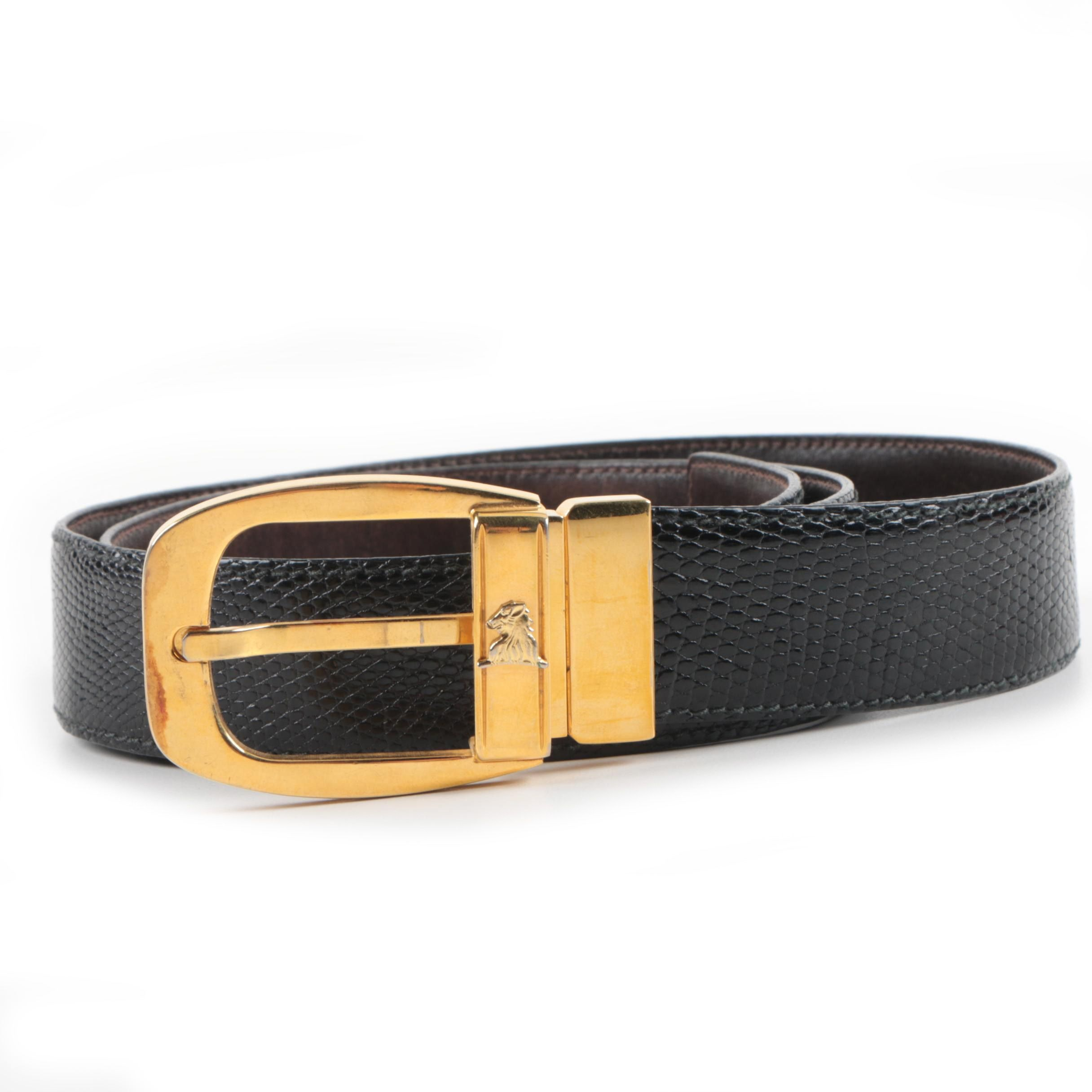 Vintage Mark Cross Reptile Belt