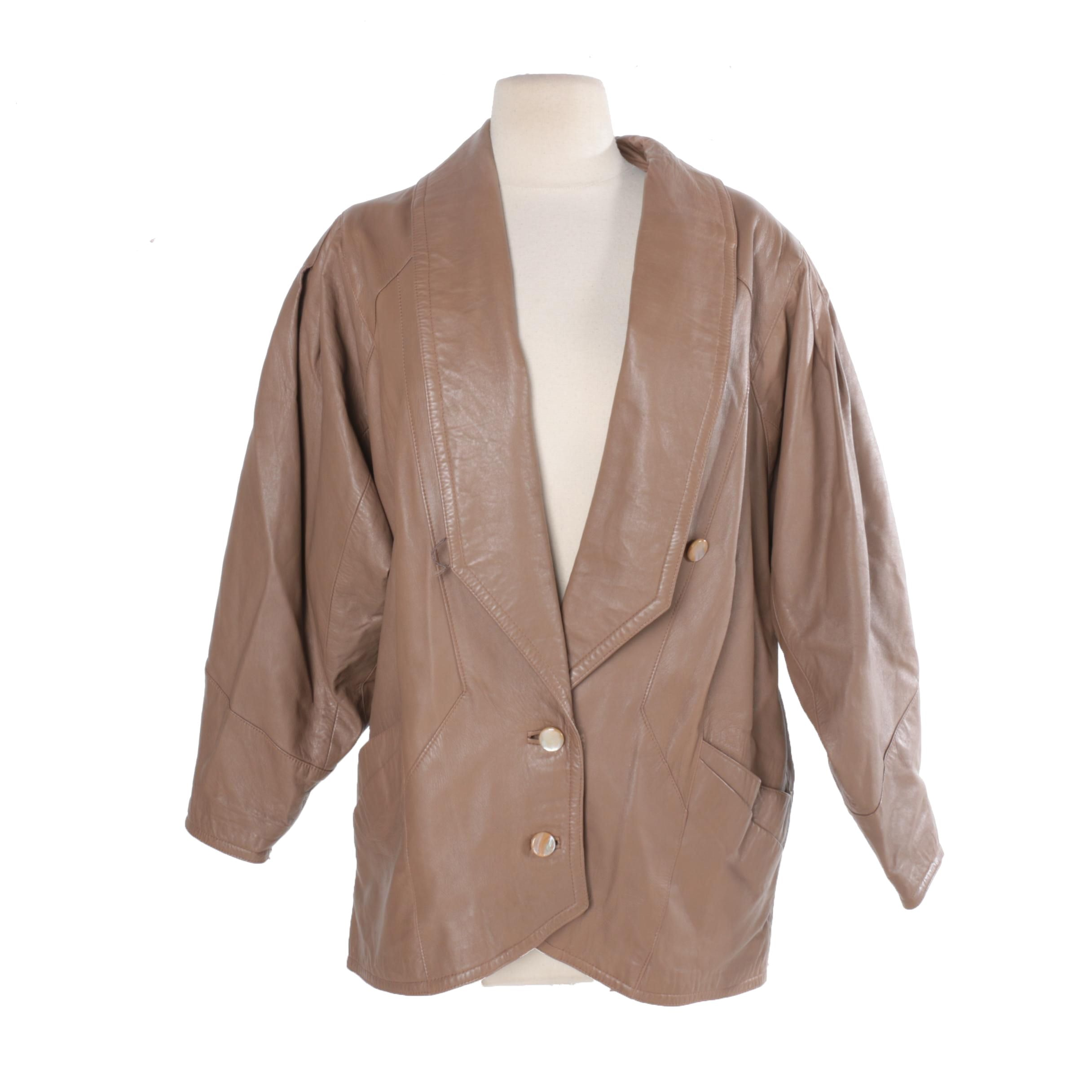 Vera Pelle Faux Leather Jacket