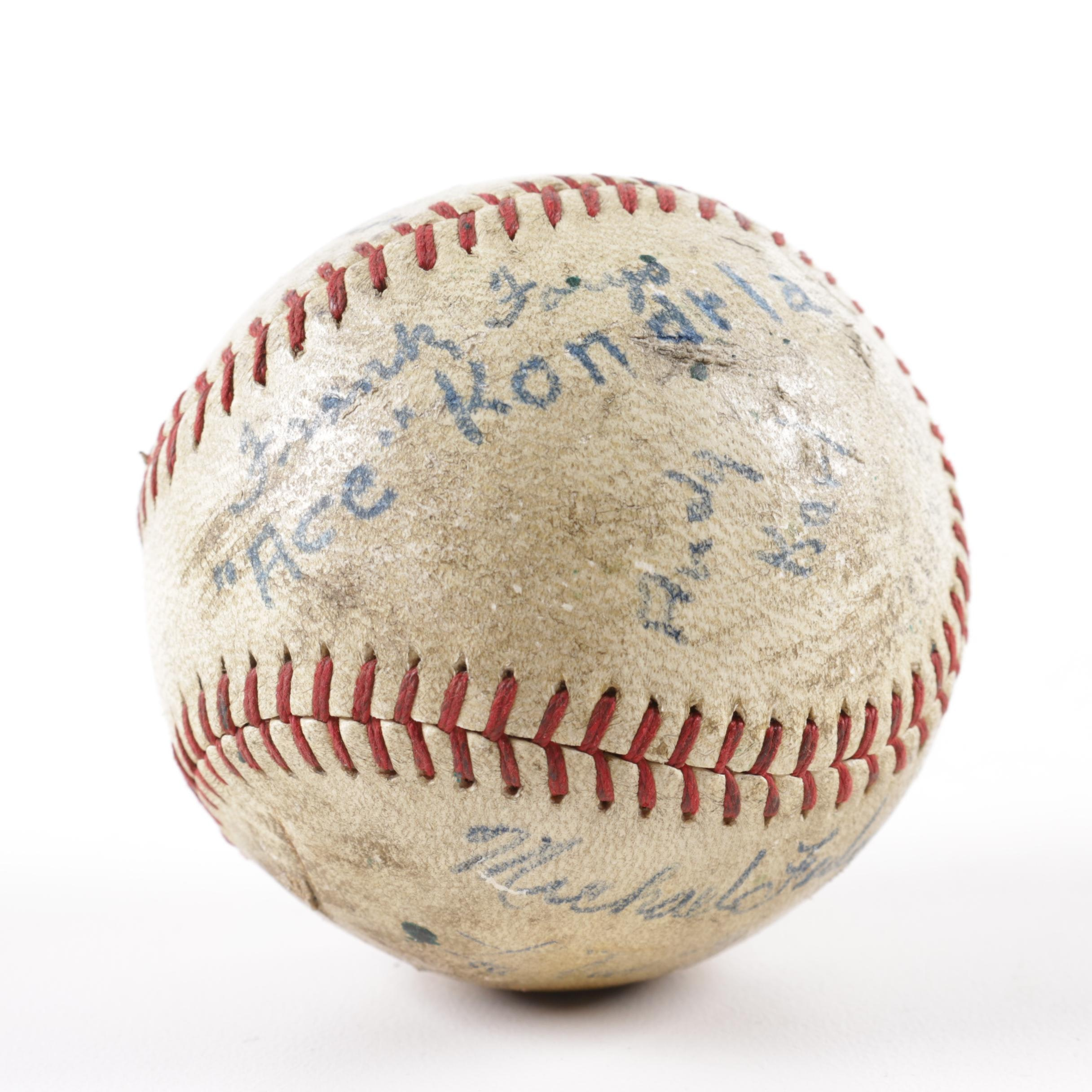 Youth Baseball Team Autographed Baseball