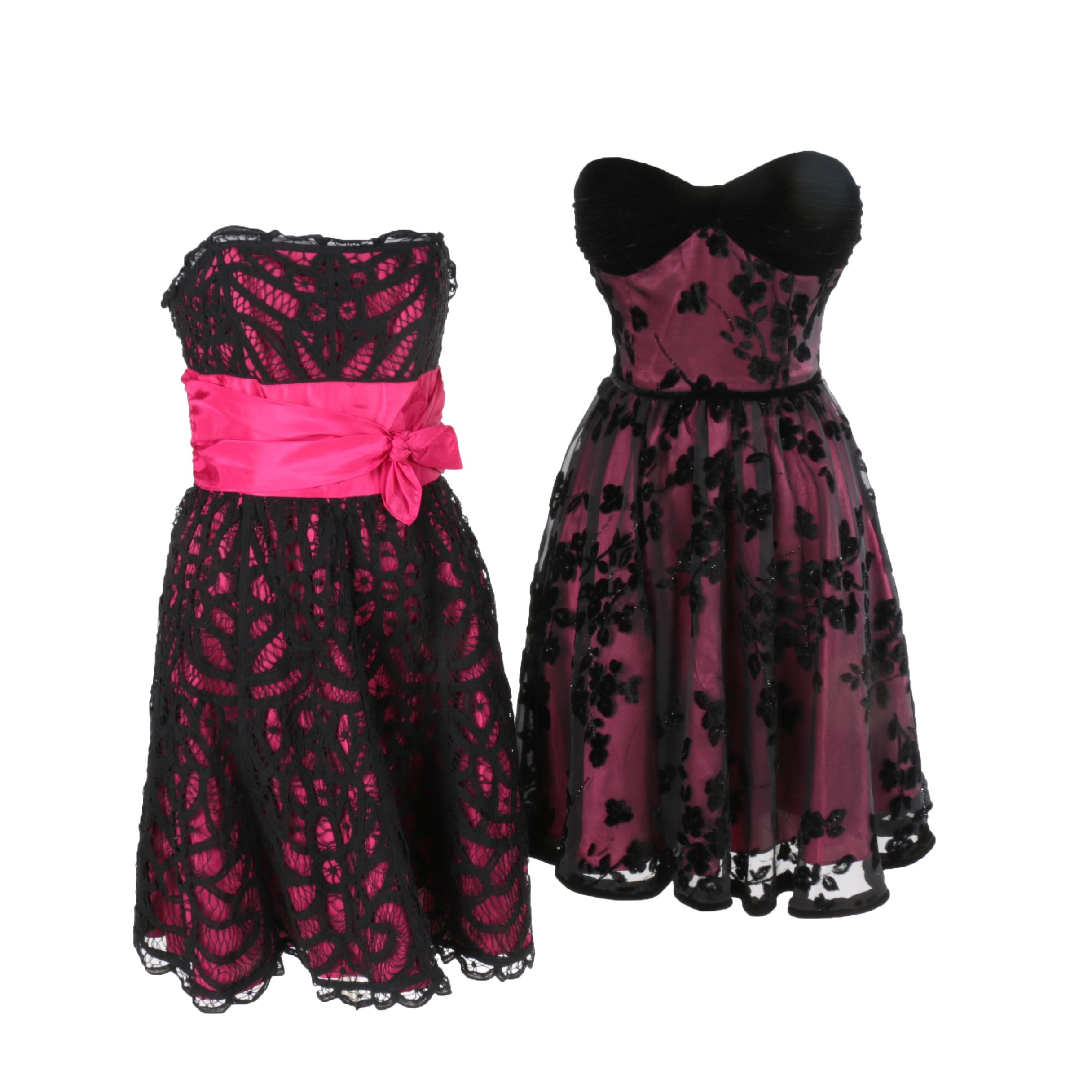 Two Betsey Johnson Strapless Dresses