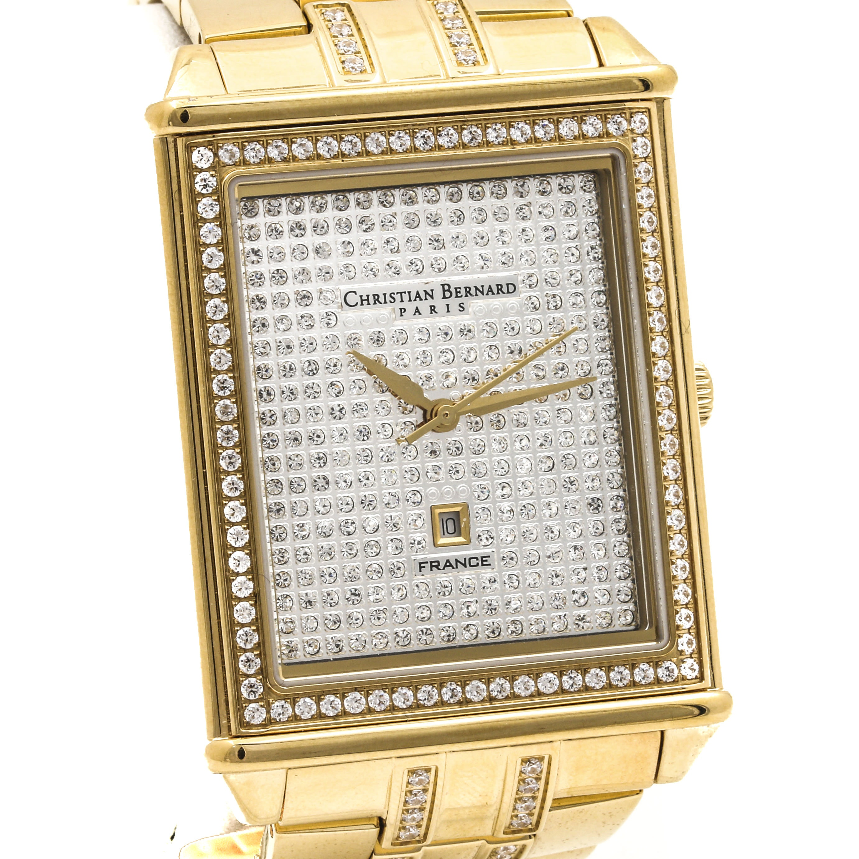 Christian Bernard Stainless Steel Gold Tone Wristwatch