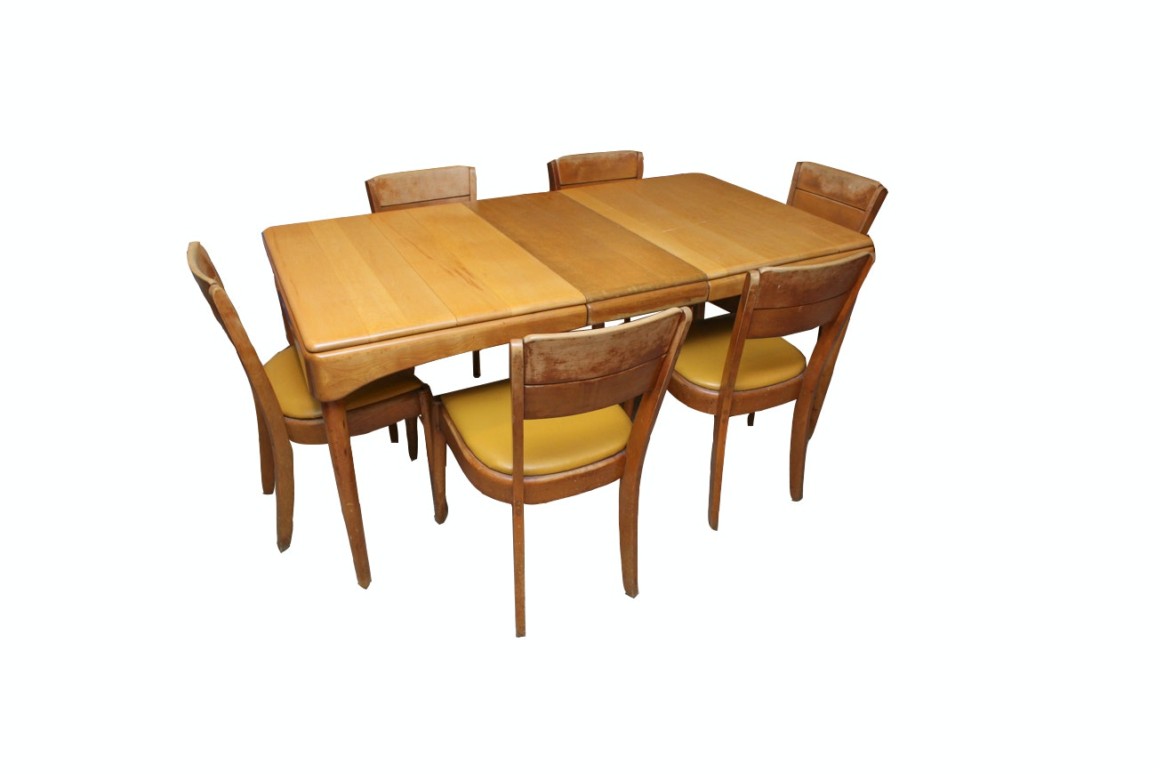 Mid Century Modern Birch Dining Set by Heywood-Wakefield