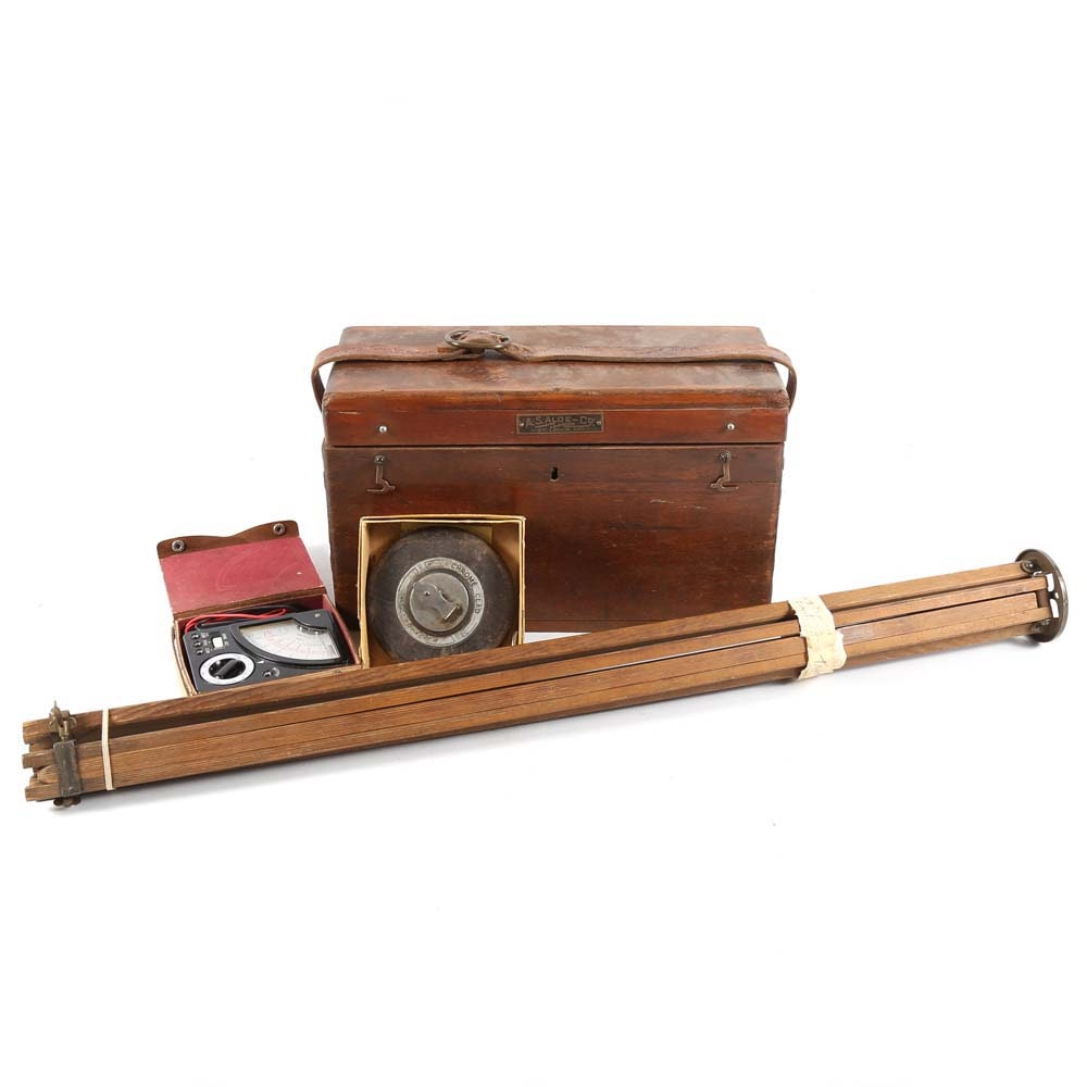 Vintage Surveying Kit