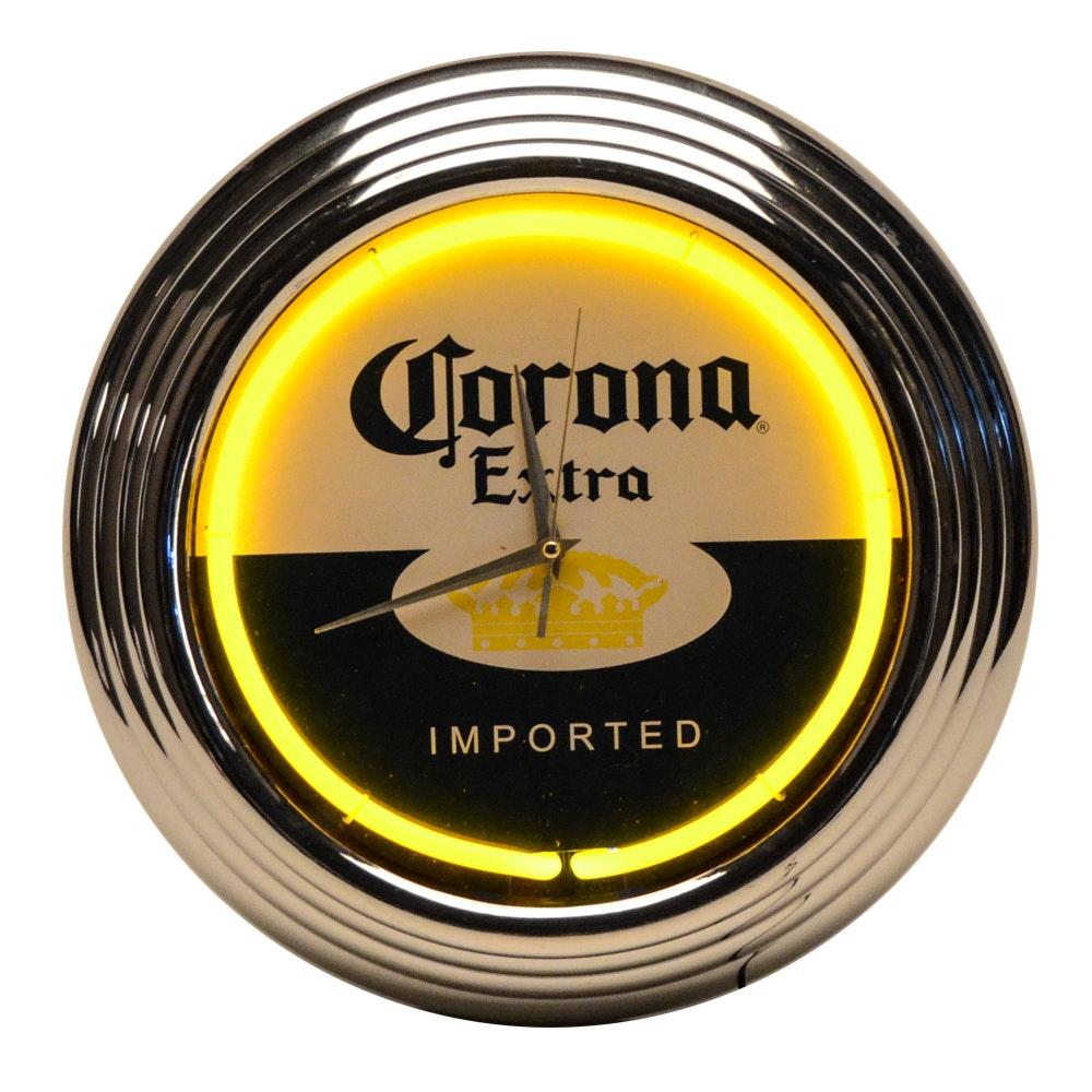 Corona Neon Clock