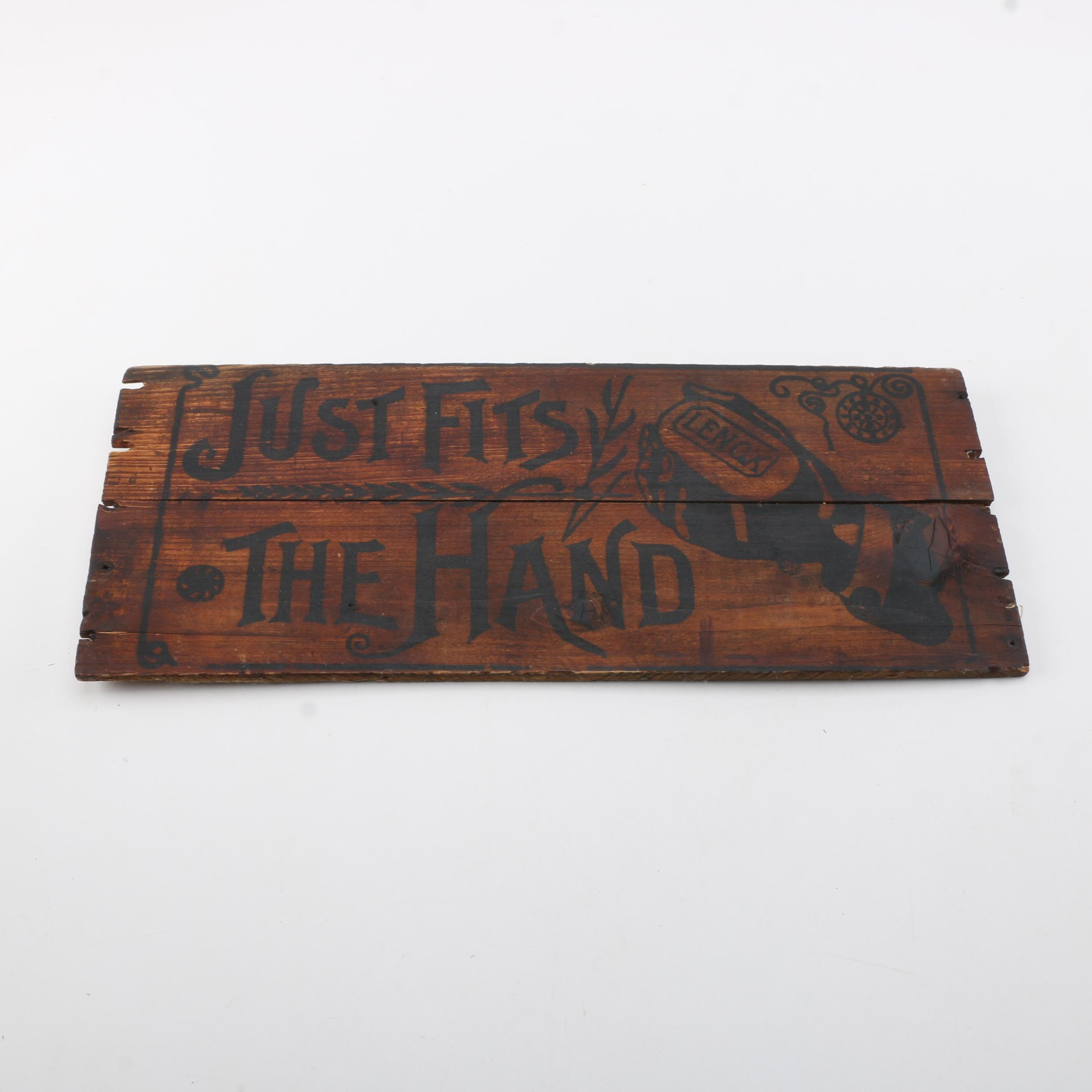 Wooden Lenox Soap Advertisement Sign