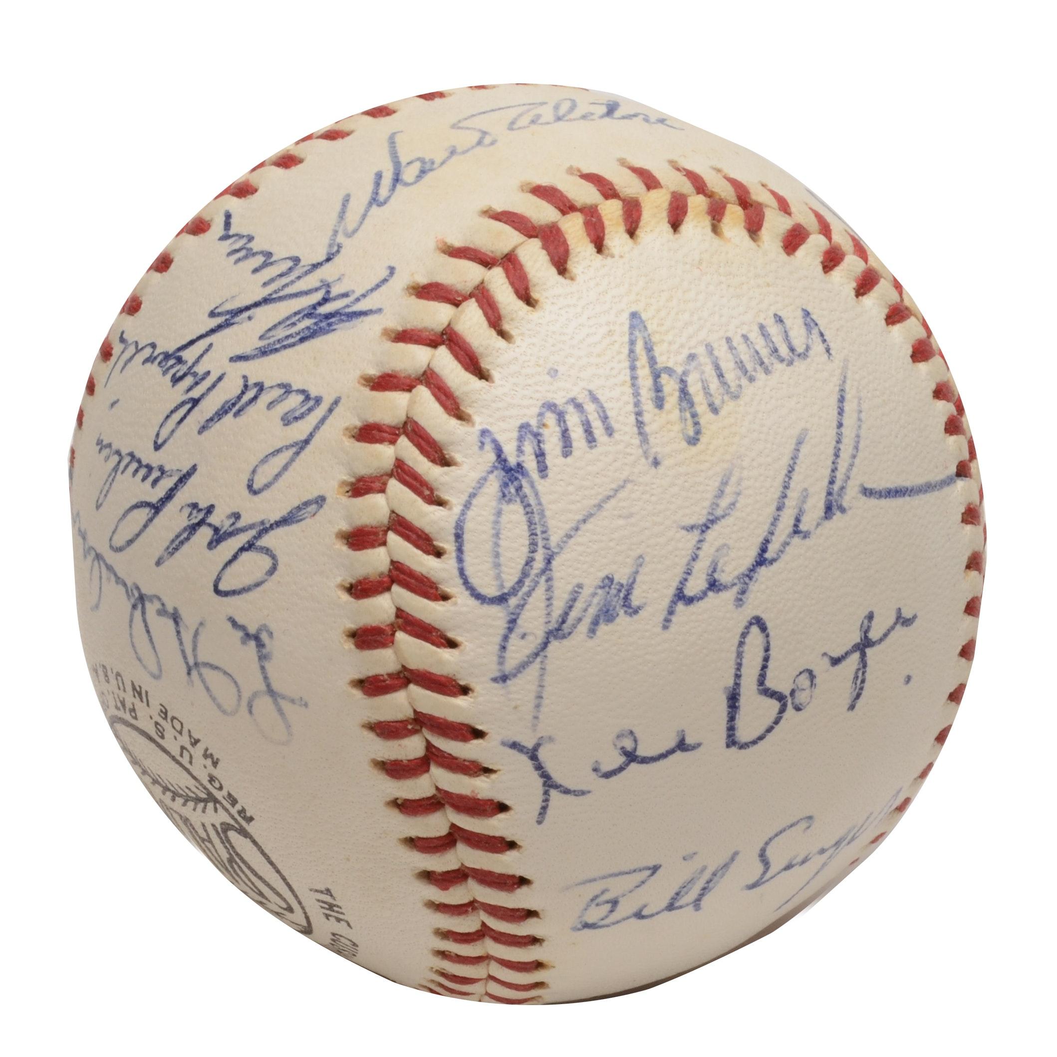 1968/69 Dodgers Autographed Baseball