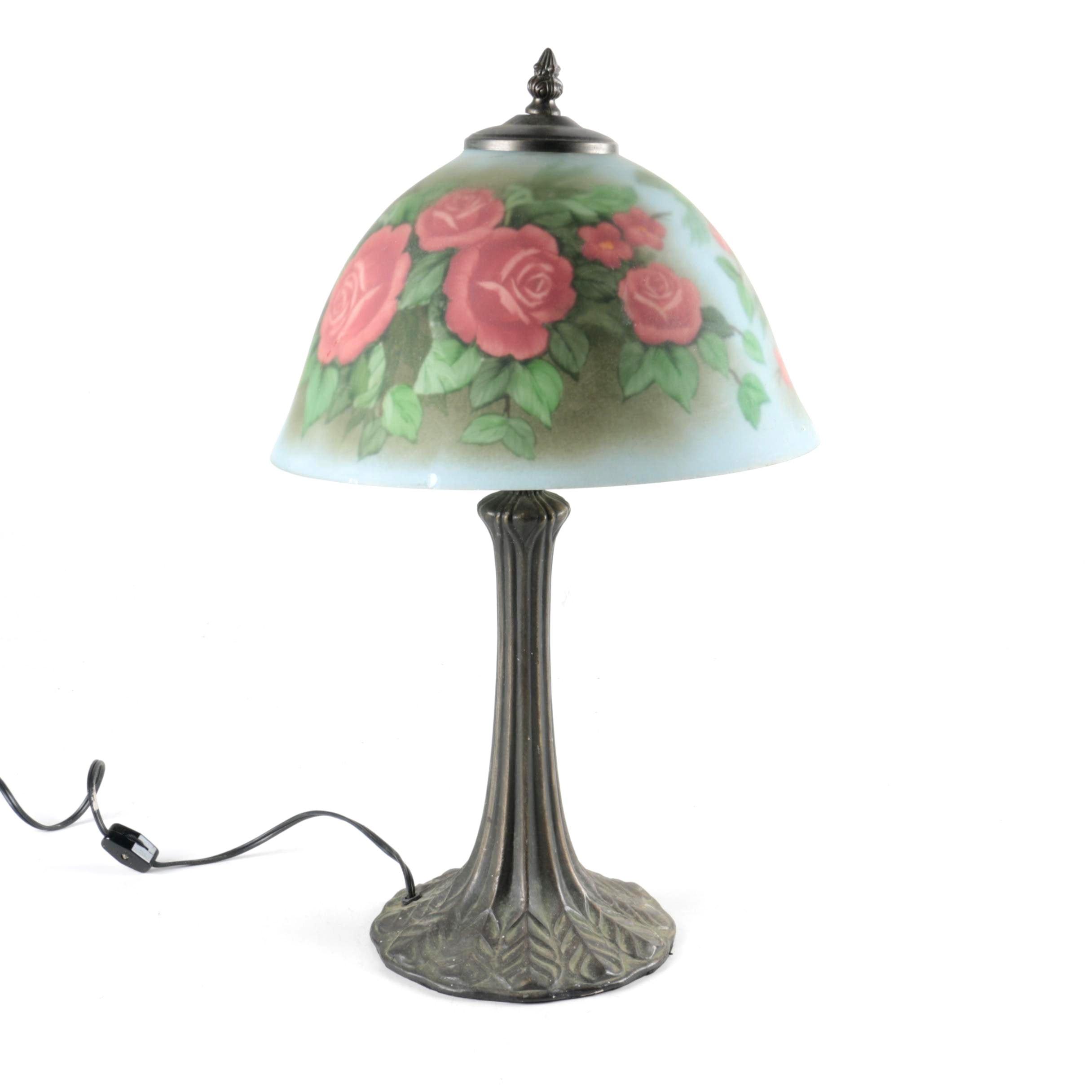 Art Nouveau Style Boudoir Lamp
