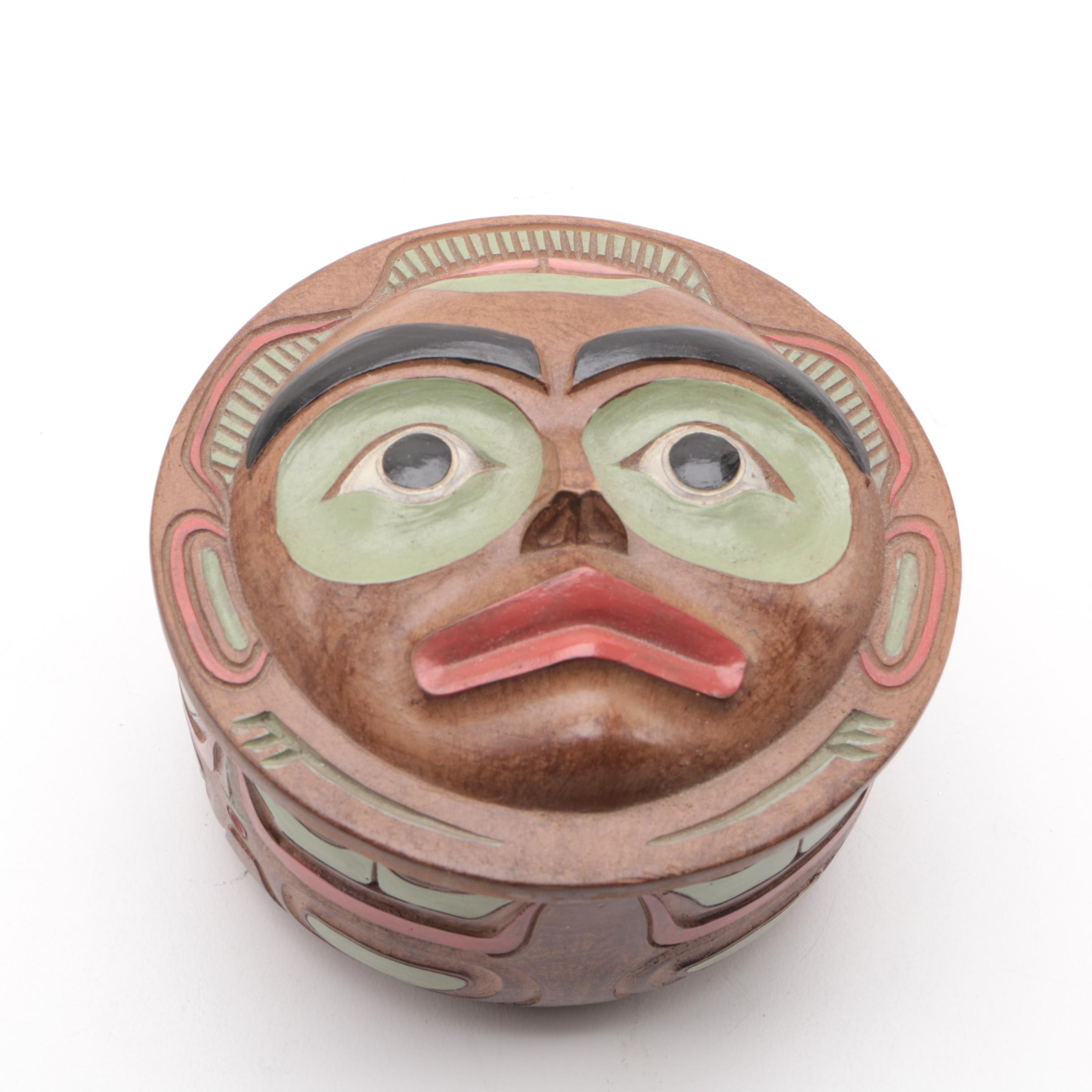 Decorative Warrior Mask Box