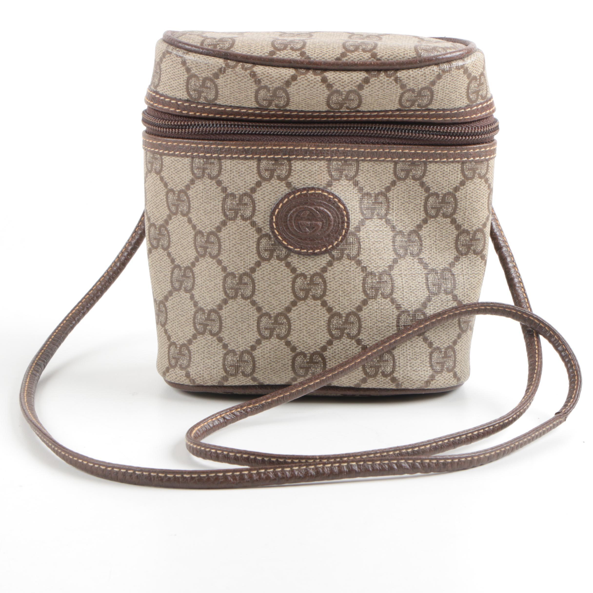 Gucci Monogrammed Canvas Cross-Body Bag