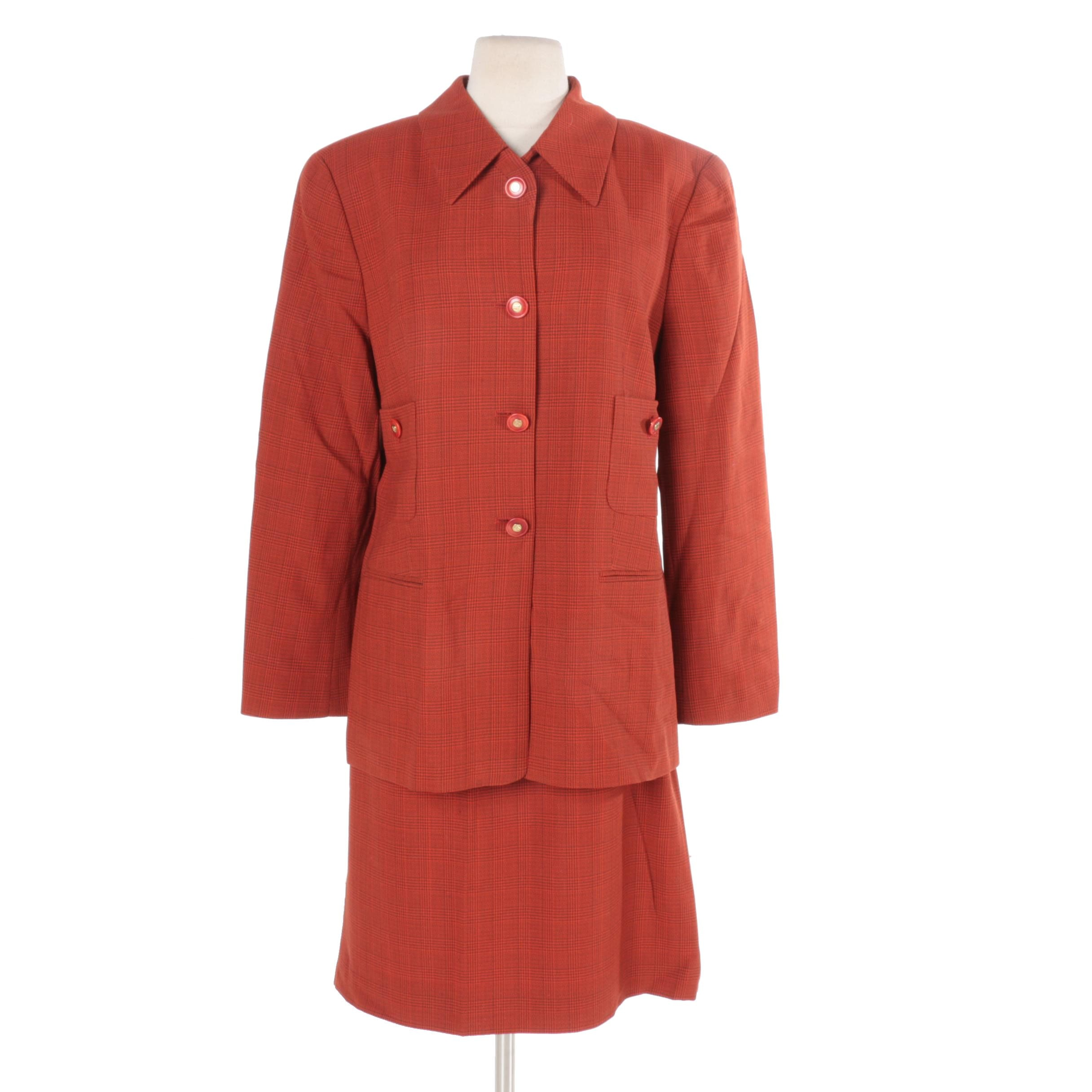 Women's Louis Feraud Virgin Wool Skirt Suit