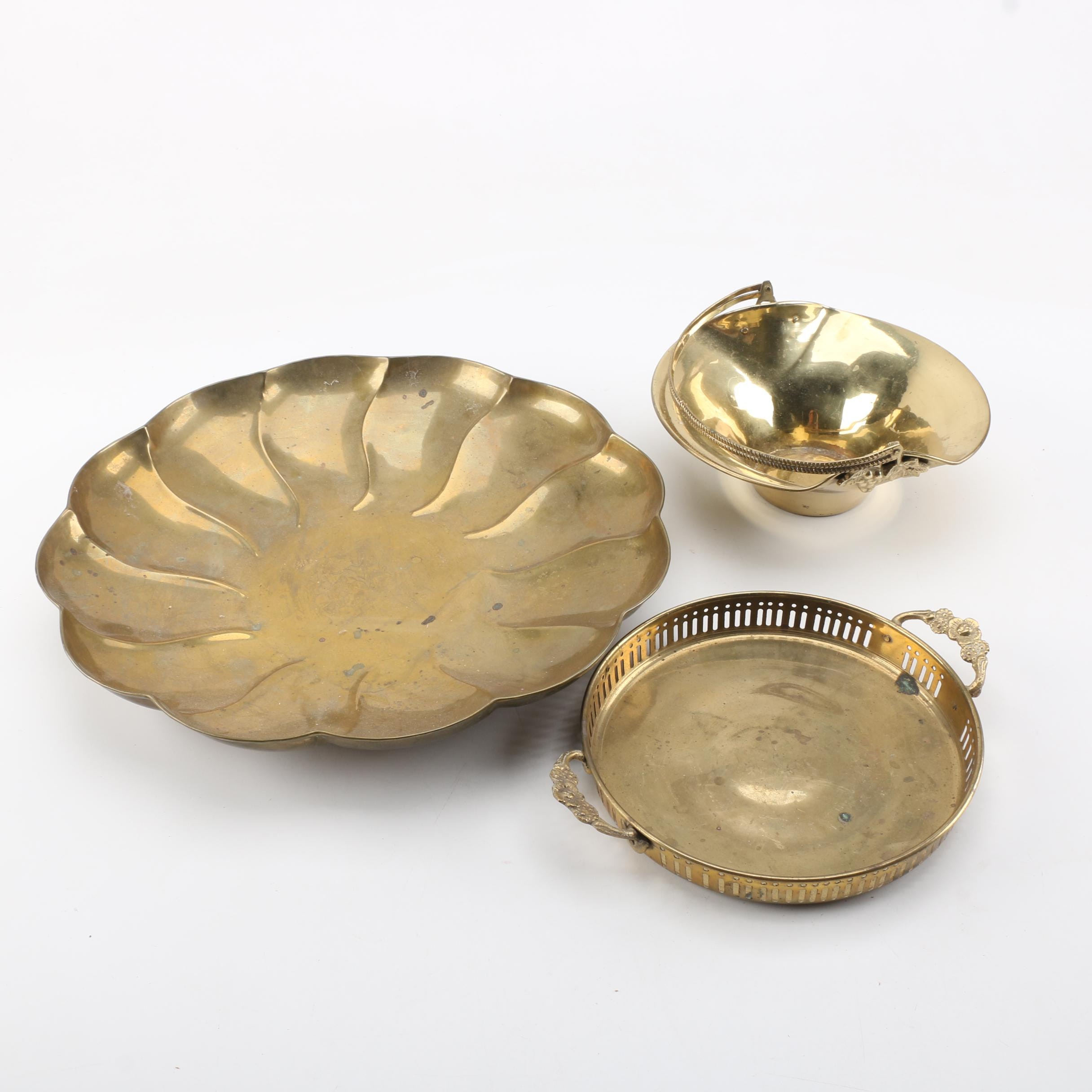 Group of Brass Dishes