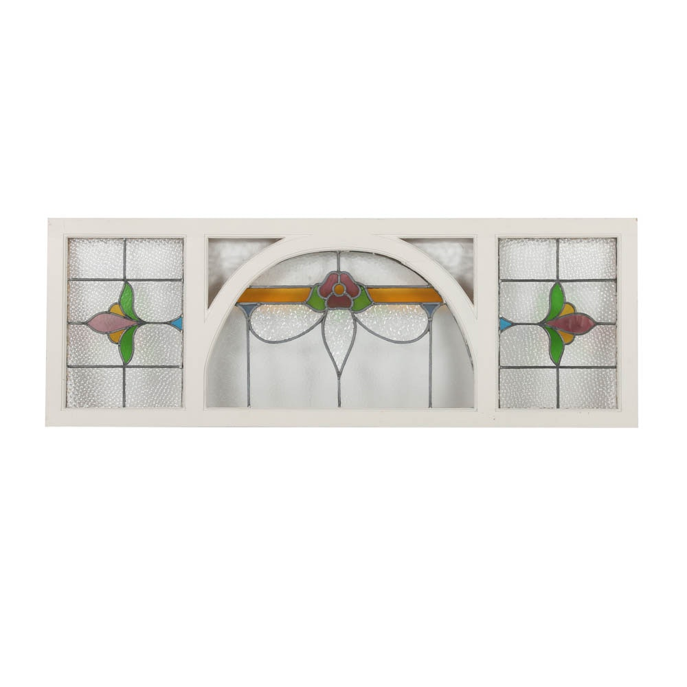 Stained Glass Window with Floral Detail