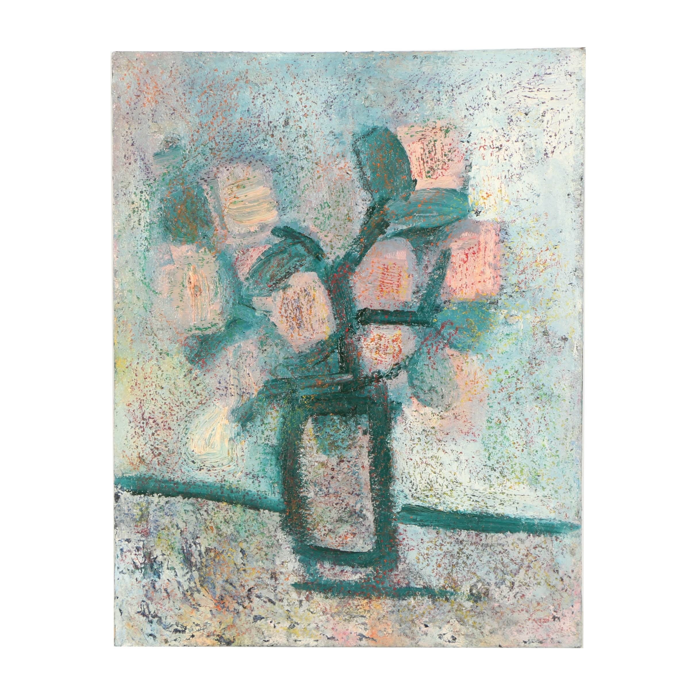 Louis Papp Mixed Media Painting on Canvas of Still Life
