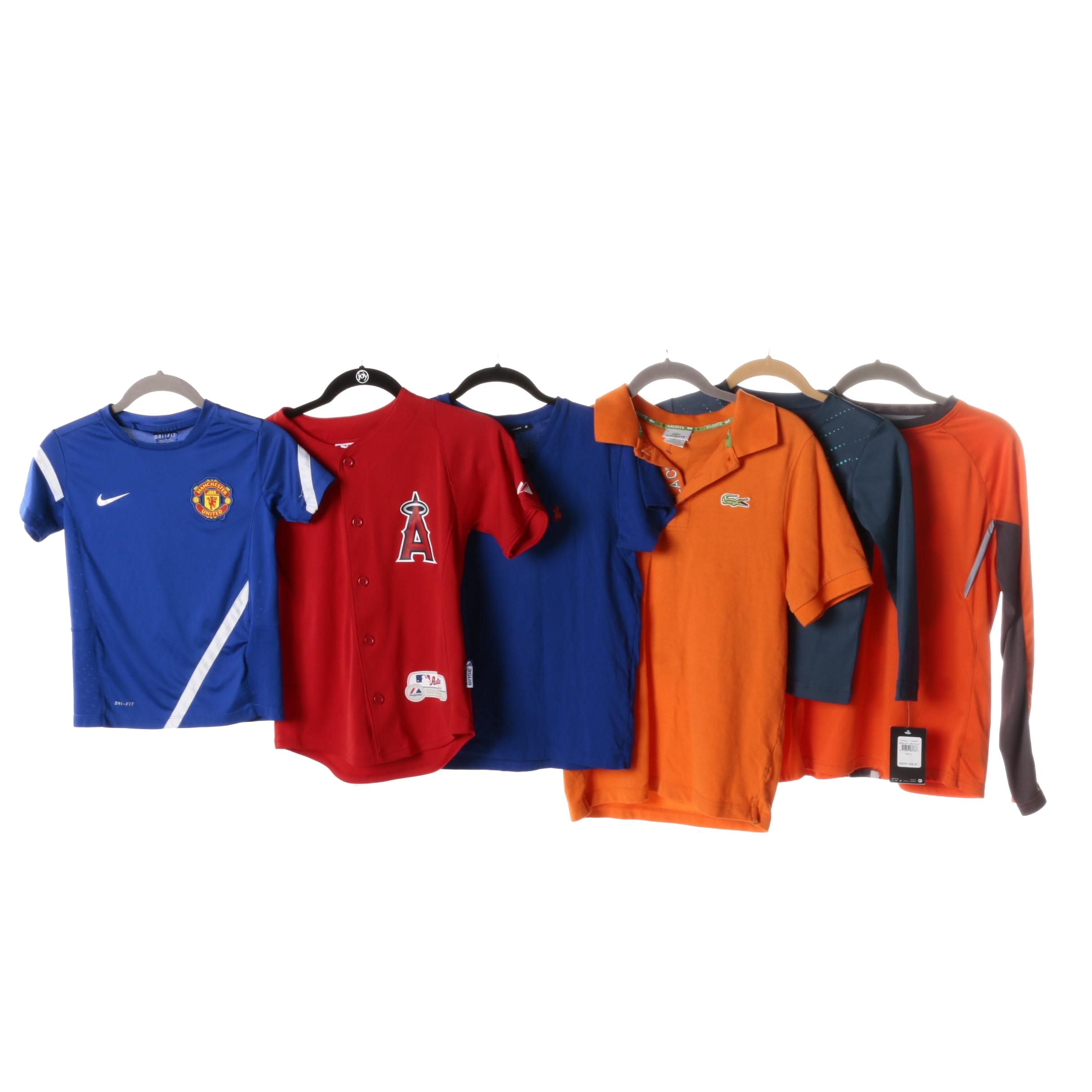 Boy's T-Shirts, Jerseys and Polos Including Lacoste and Nike