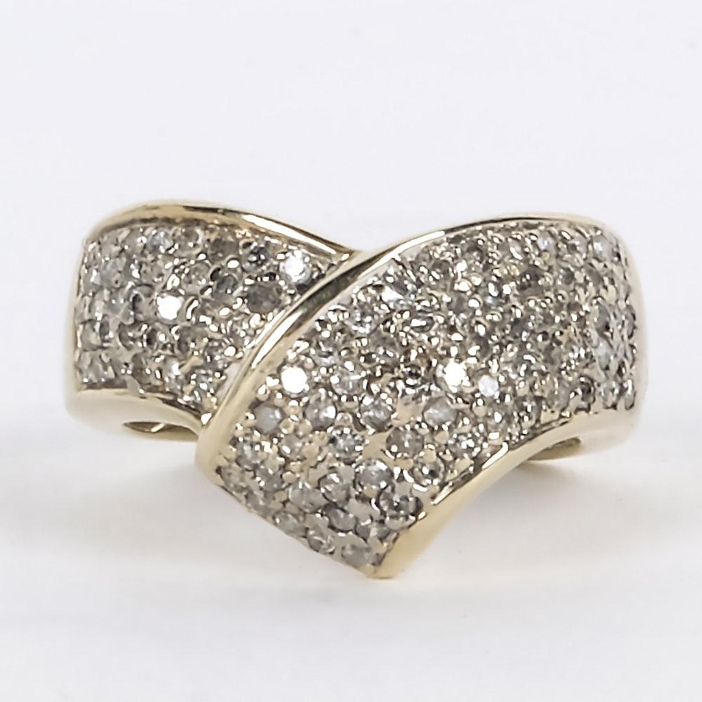 14K Yellow Gold and 0.75 CTW Diamond Ring