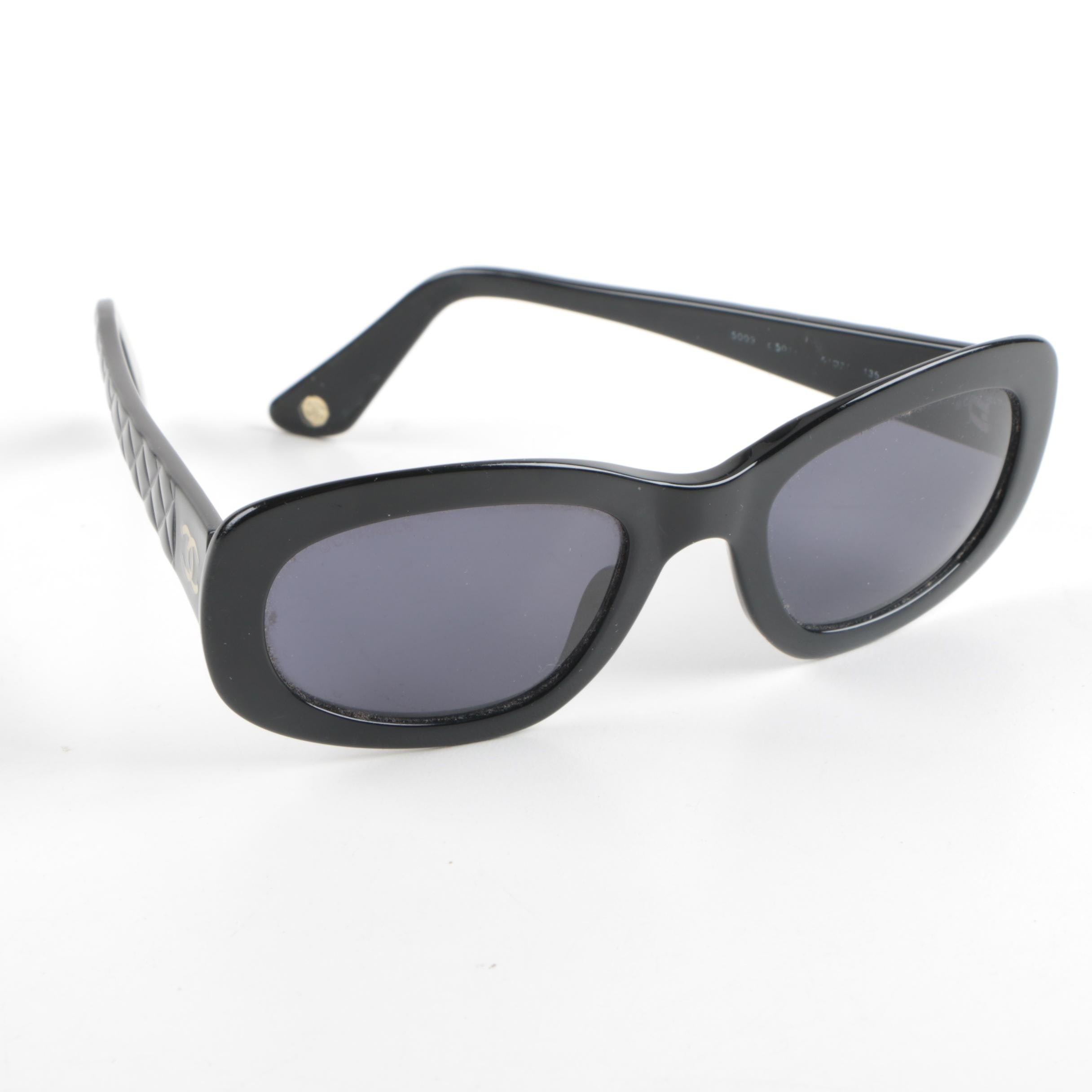 Women's Chanel CC Quilted Sunglasses