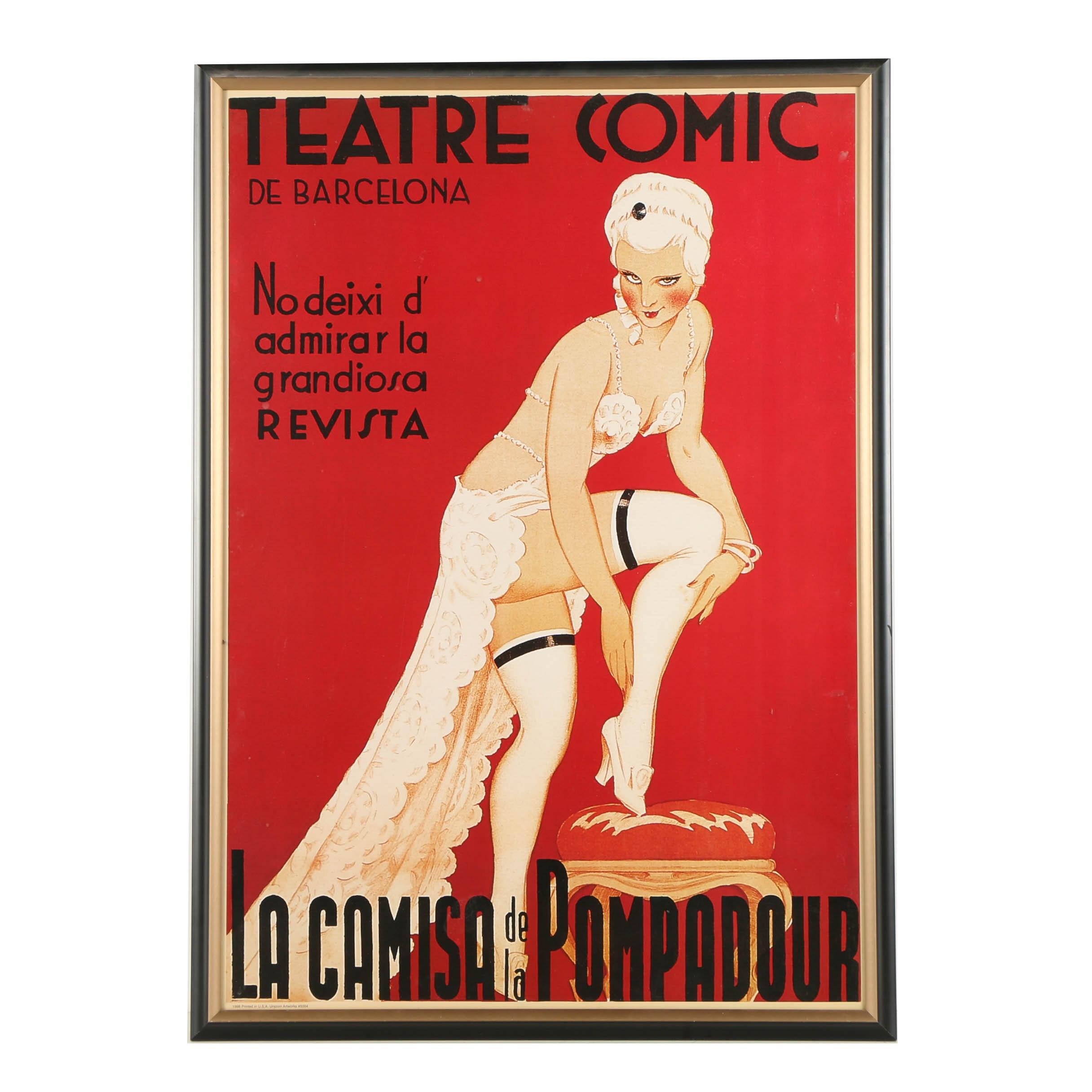 """""""La Camisa de la Pompadour"""" Reproduction Poster"""