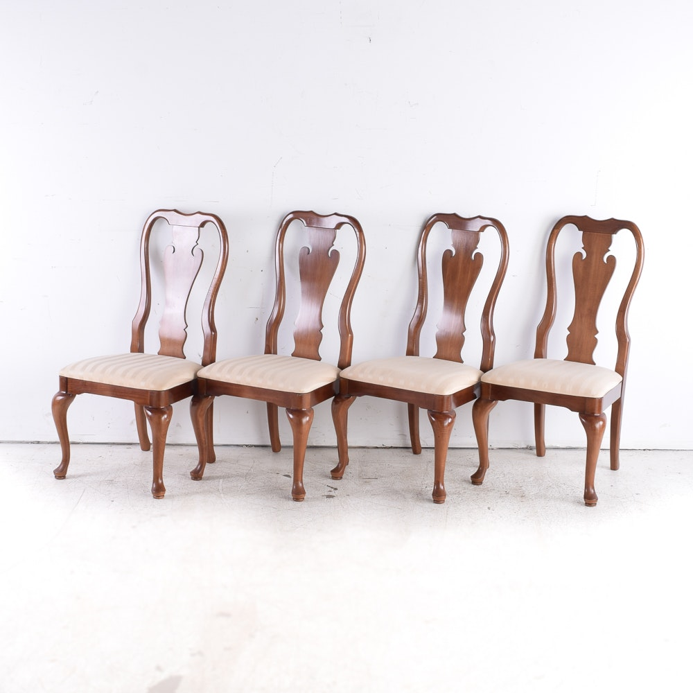 Set of Queen Anne Style Dining Chairs by Thomasville