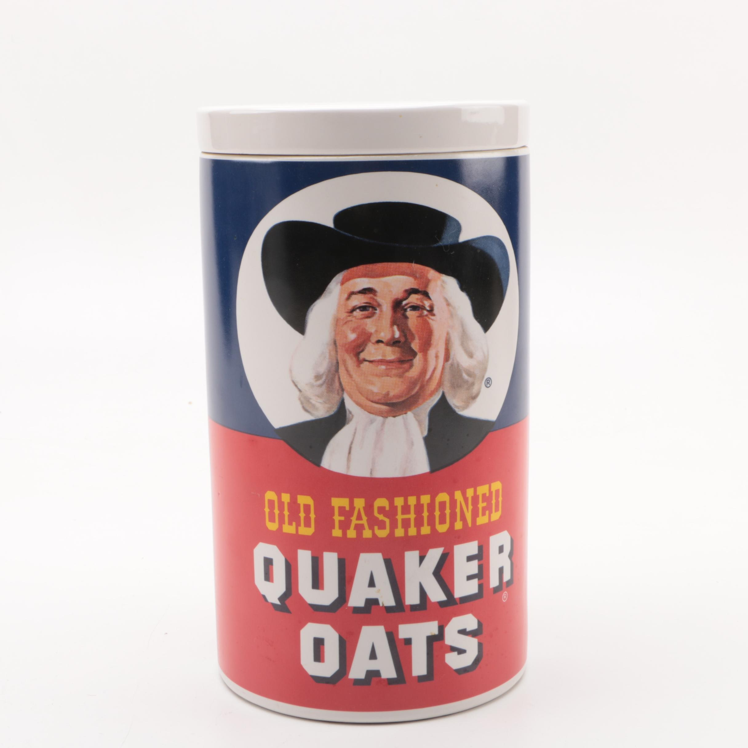 Old Fashioned Quaker Oats Ceramic Cookie Jar