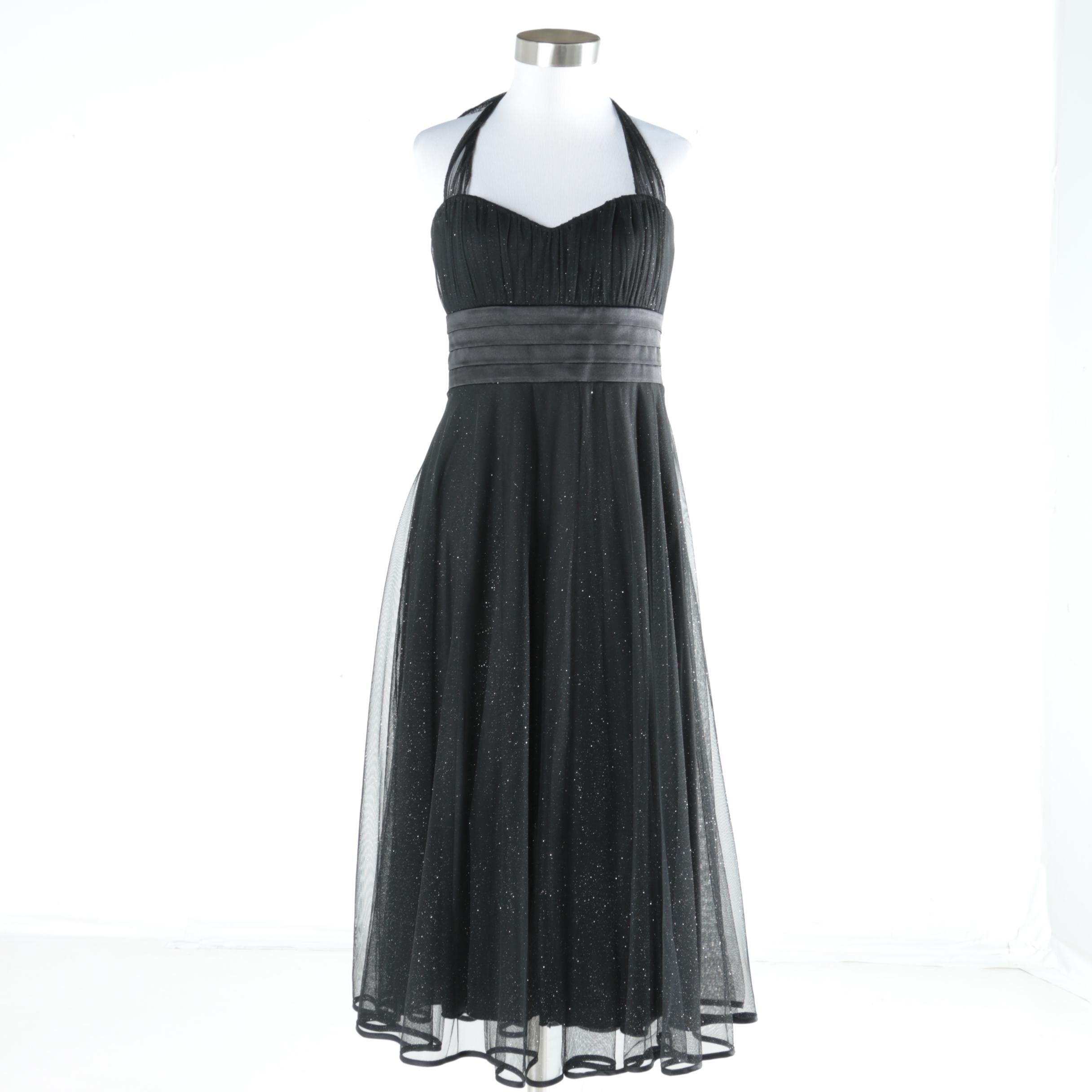 Speechless Black Semi-Formal Halter Dress