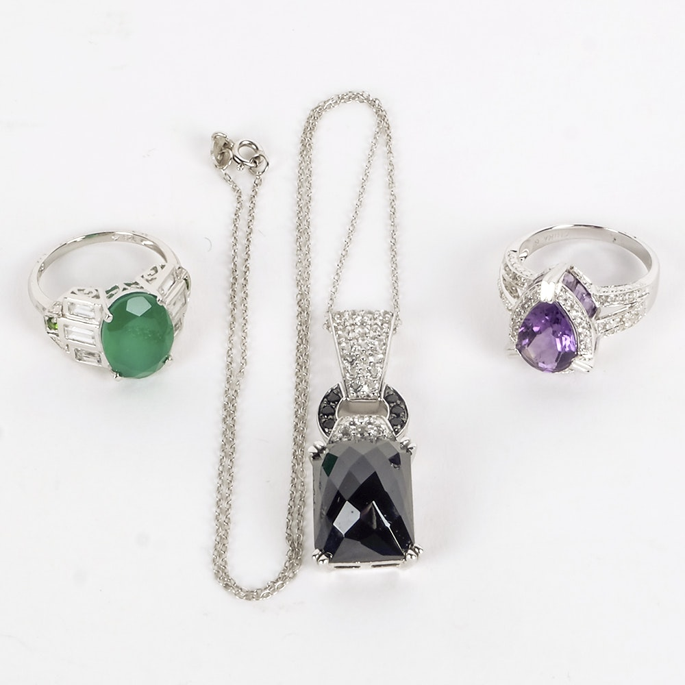 Assortment of Sterling Silver and Gemstone Jewelry