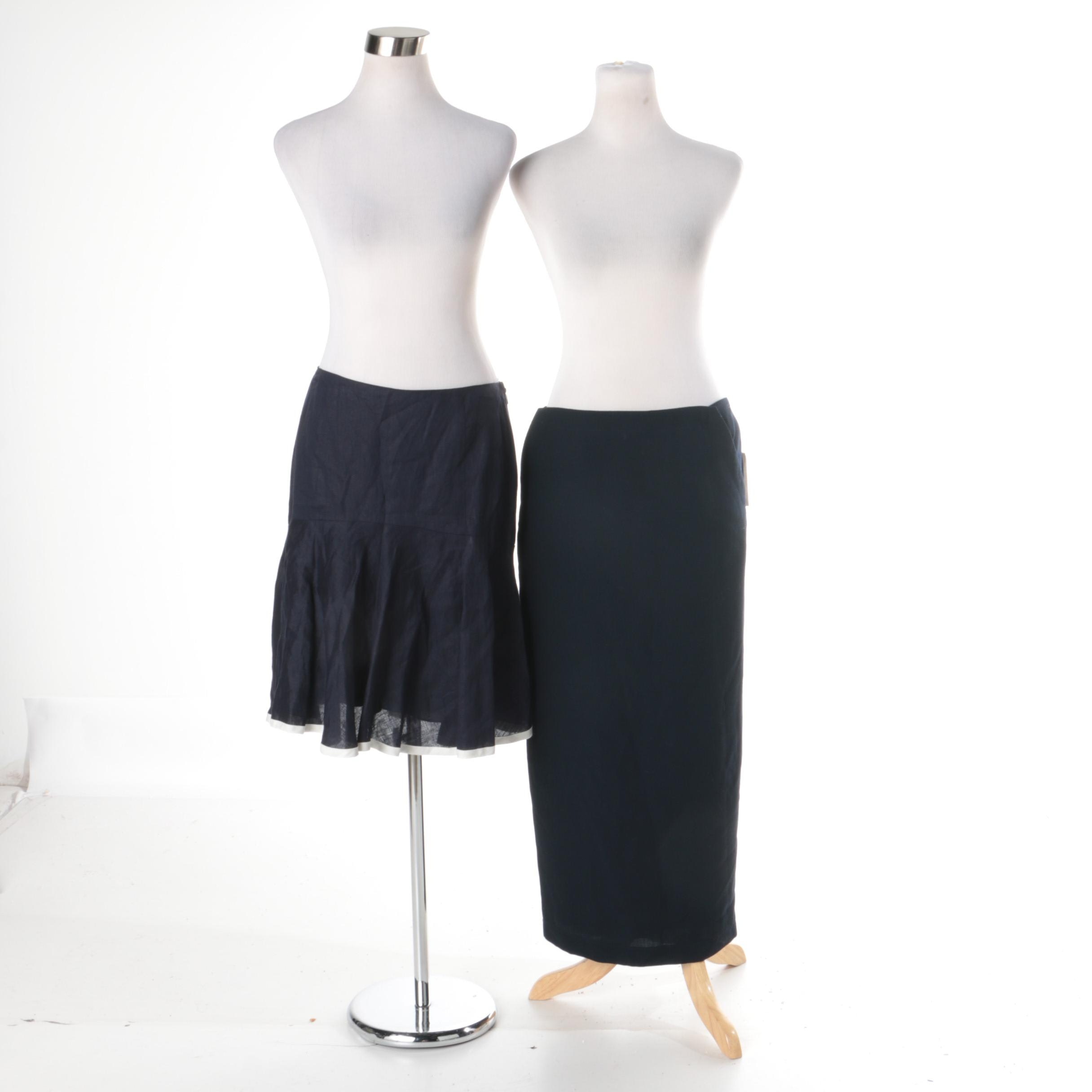 Two Lauren Ralph Lauren Navy Skirts
