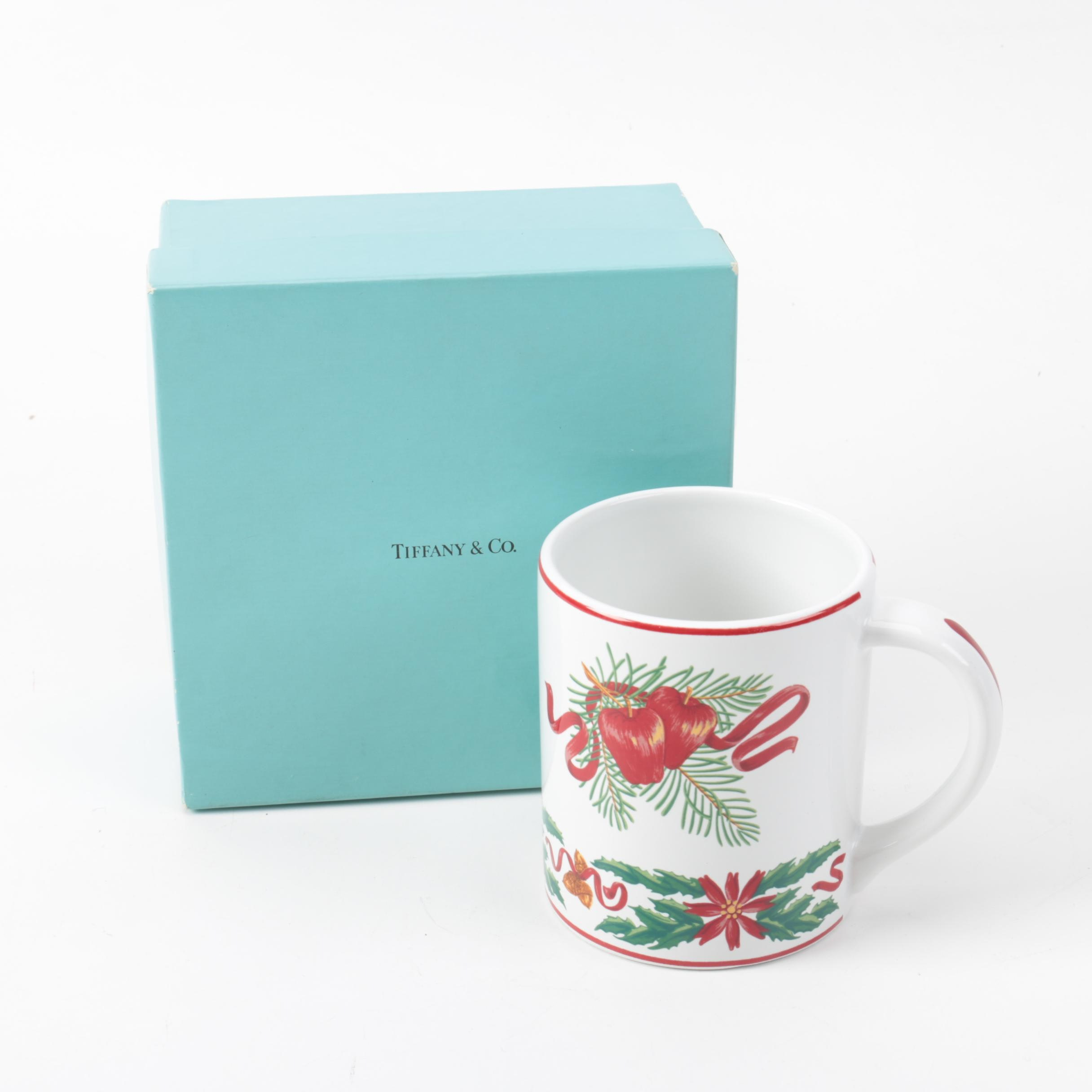 "Tiffany & Co. ""Tiffany Holly"" Ceramic Mug"