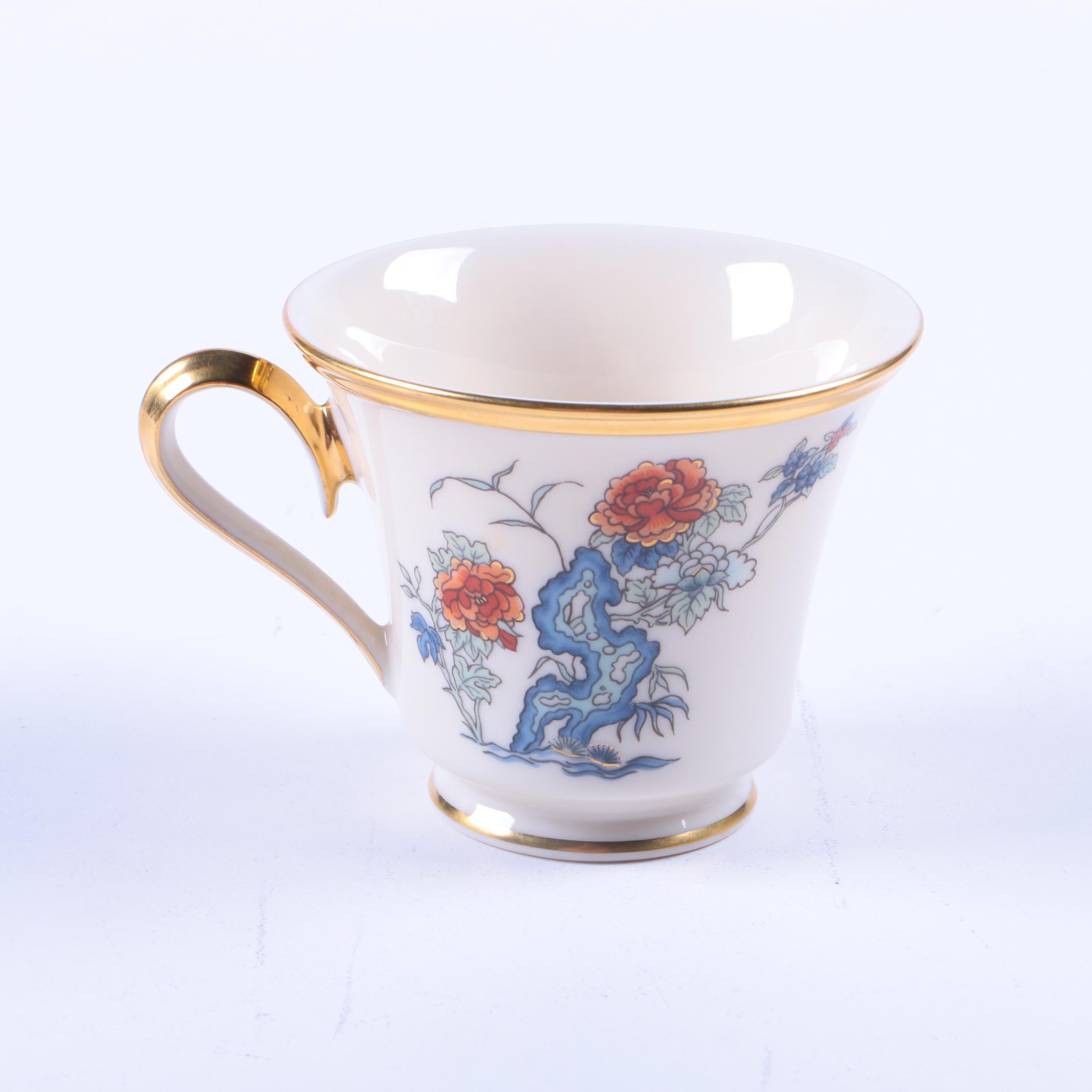 """Lenox """"Red Lacquer"""" Porcelain Teacup"""