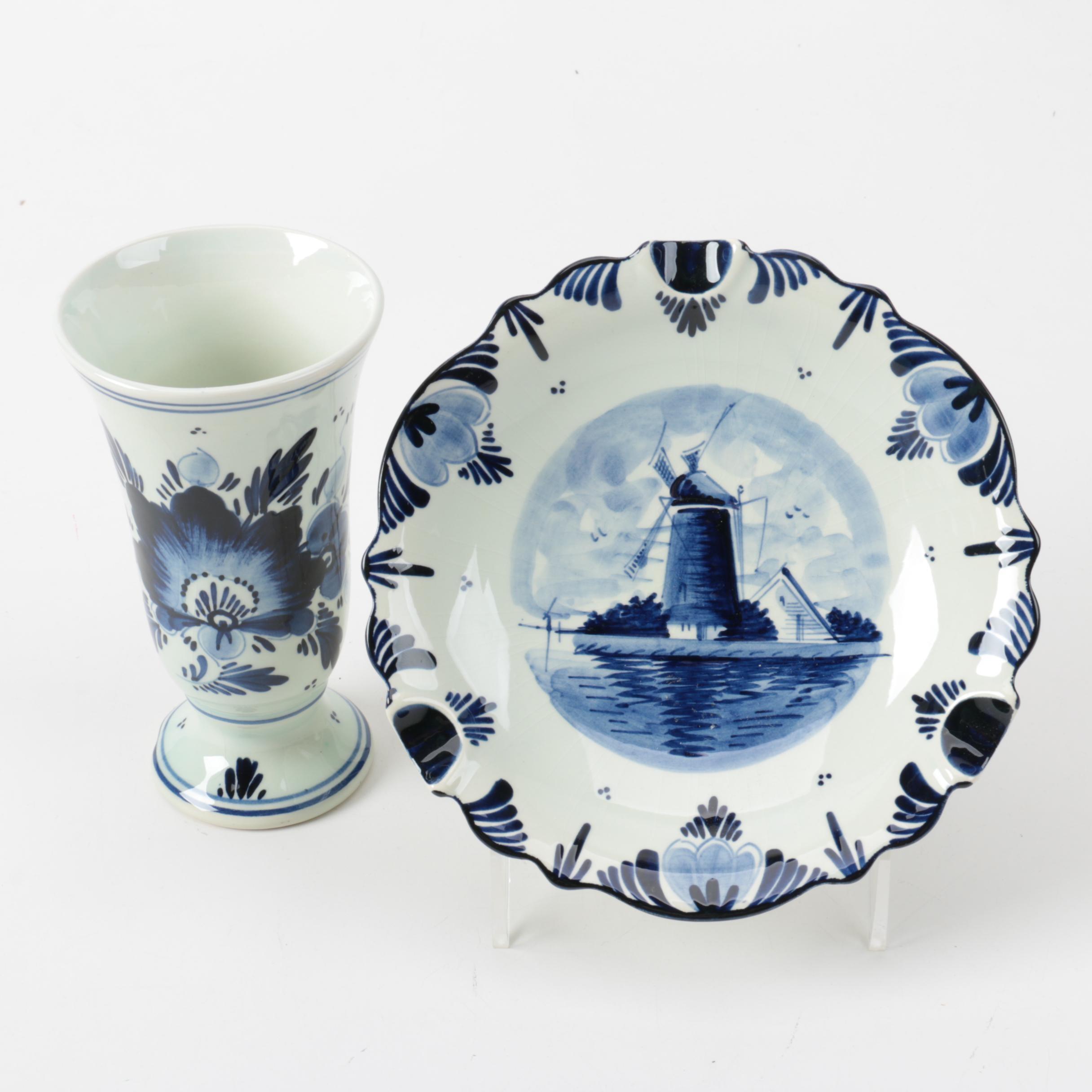 Dutch Delft Blue Pottery