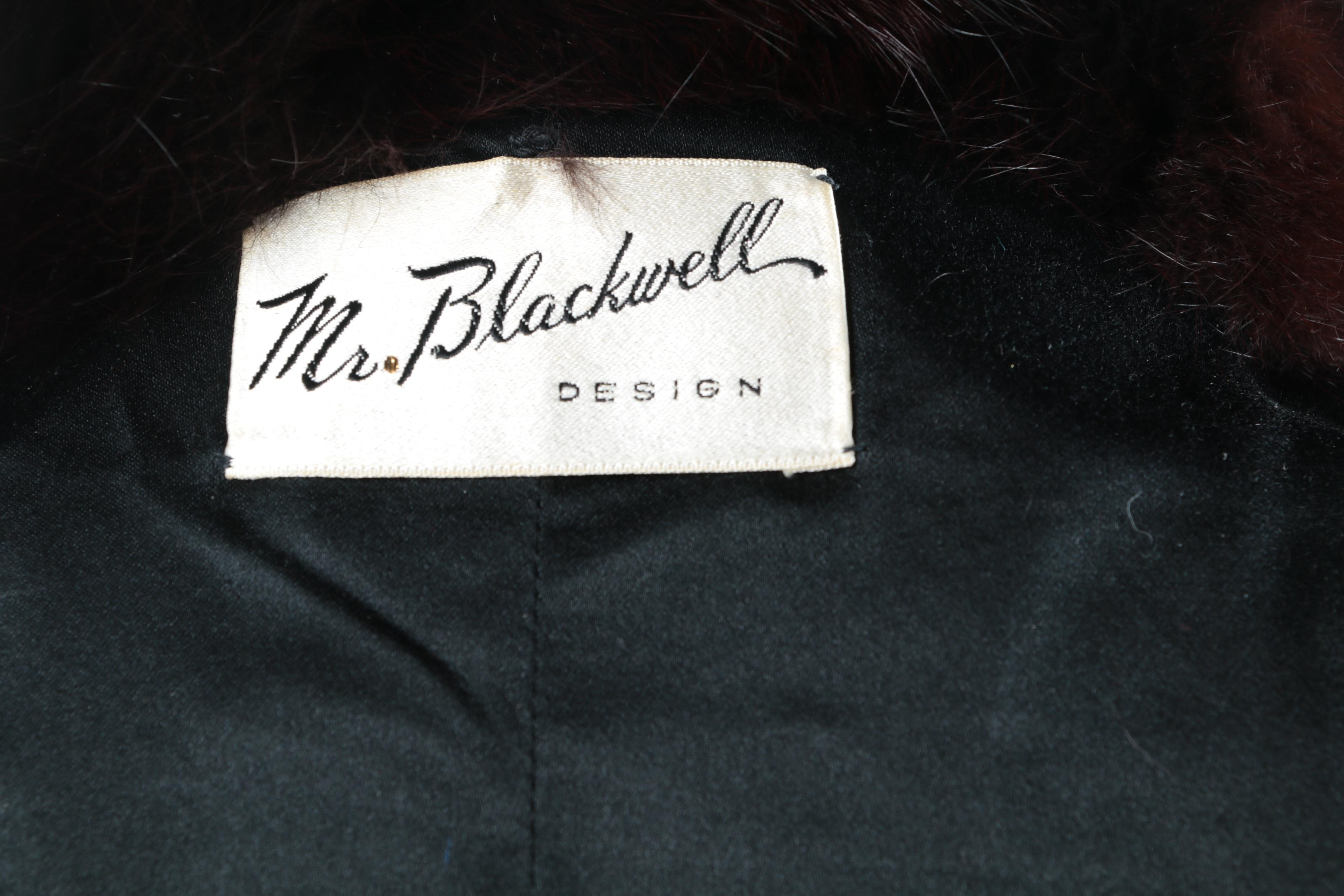 Hi Lo Auto Sales >> 1950s Vintage Mr. Blackwell Designs Black Coat with a Dyed Fox Fur Collar : EBTH