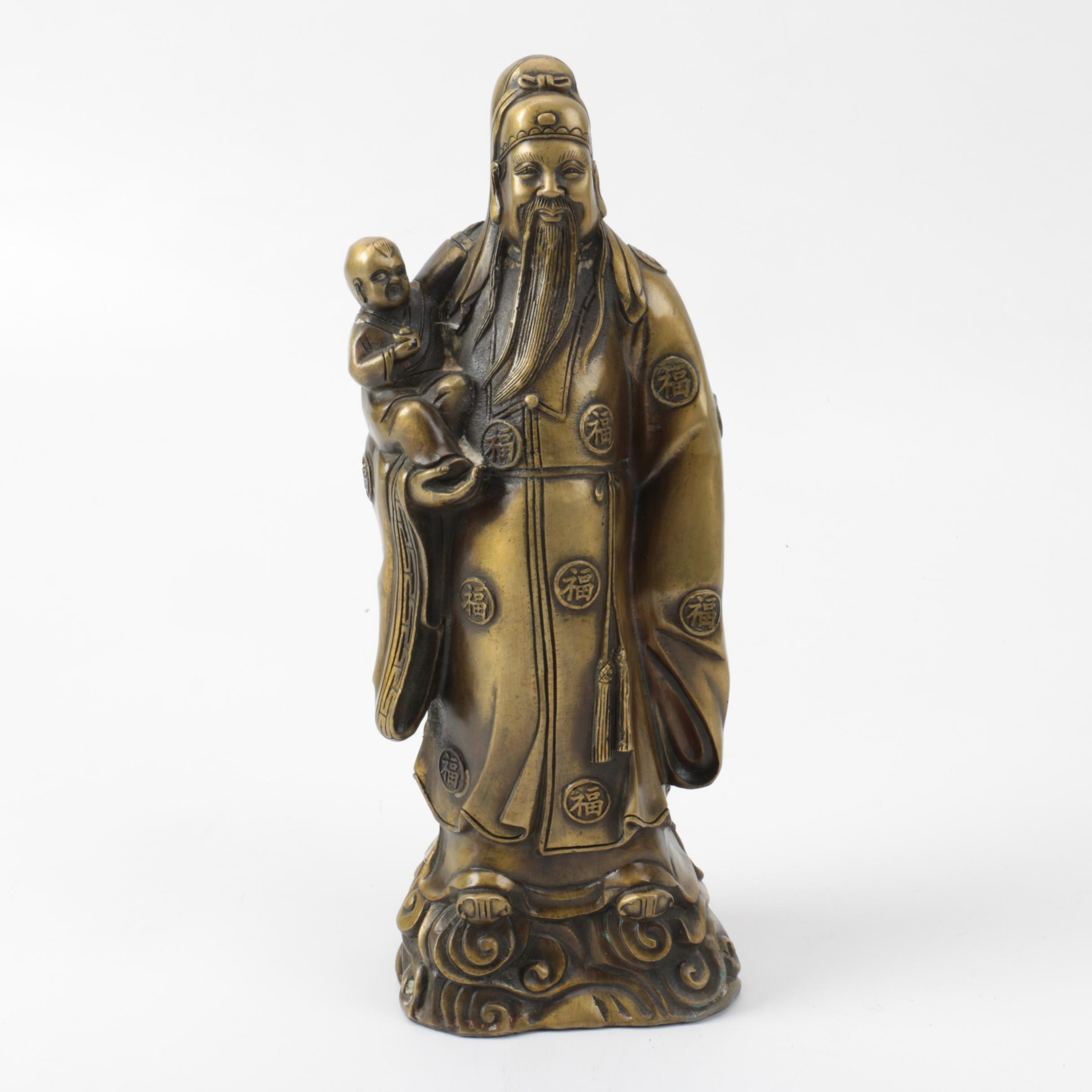 Chinese Brass Figurine of the God of Status