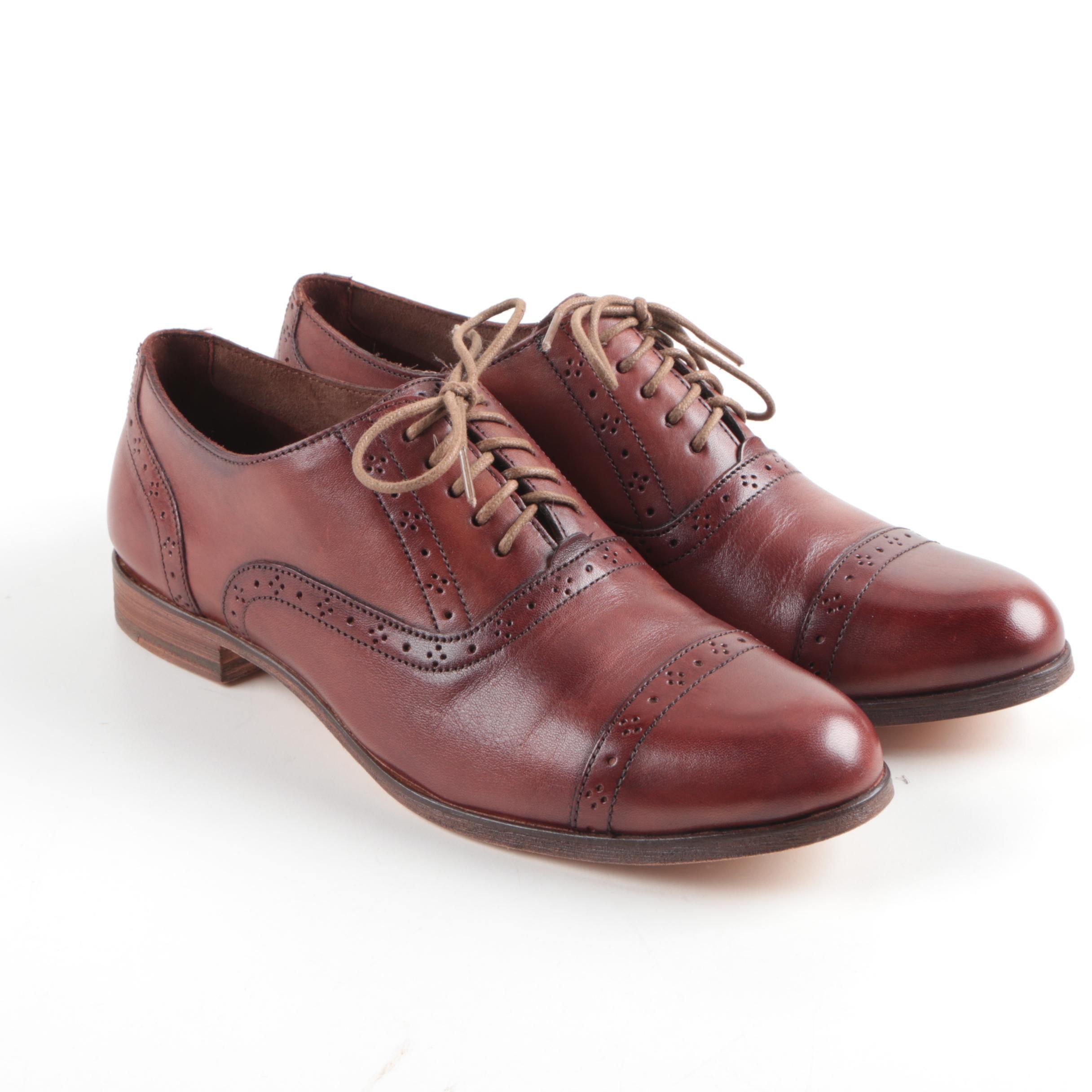 Men's Cole Haan Brown Leather Cap Toe Oxfords