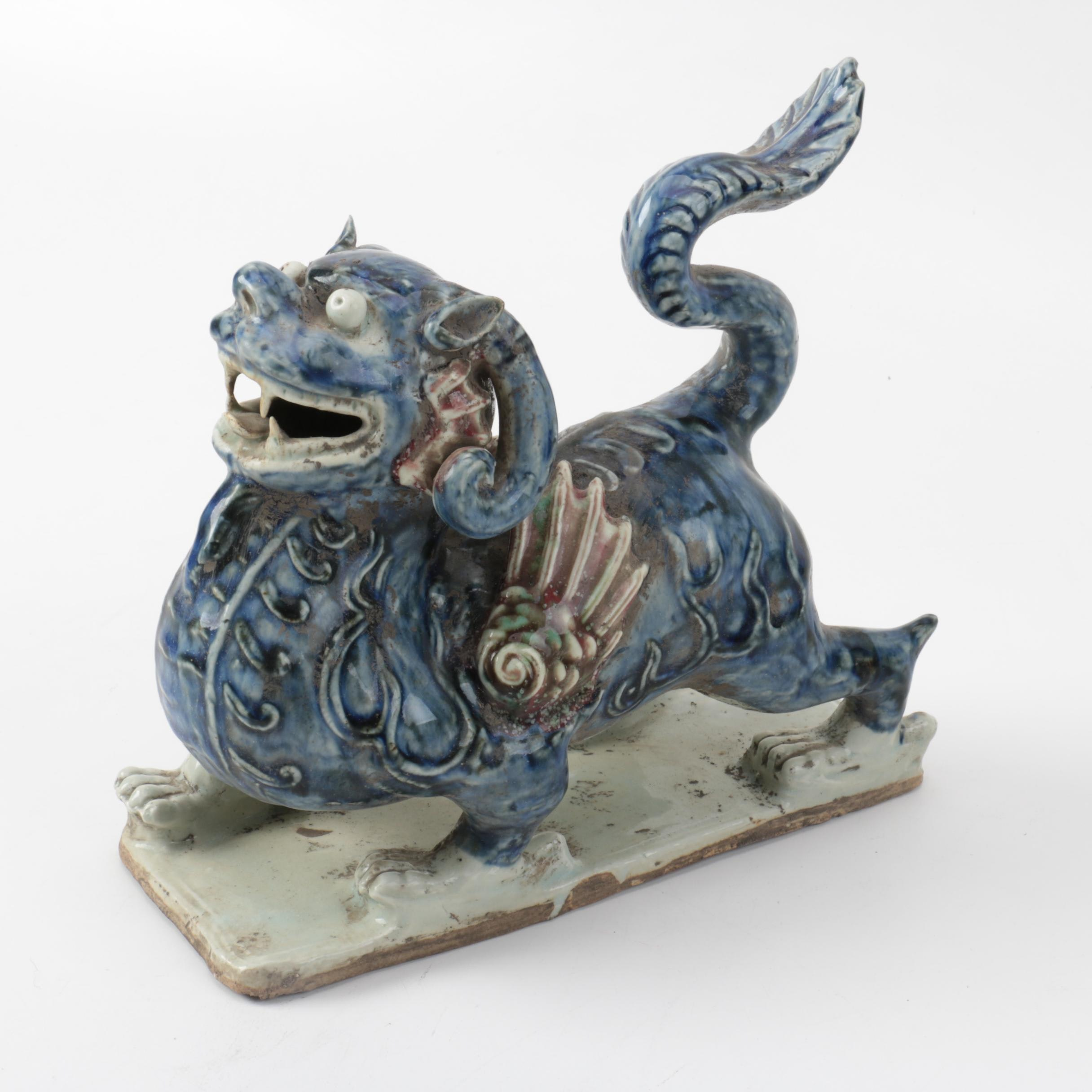 Chinese Ceramic Guardian Lion