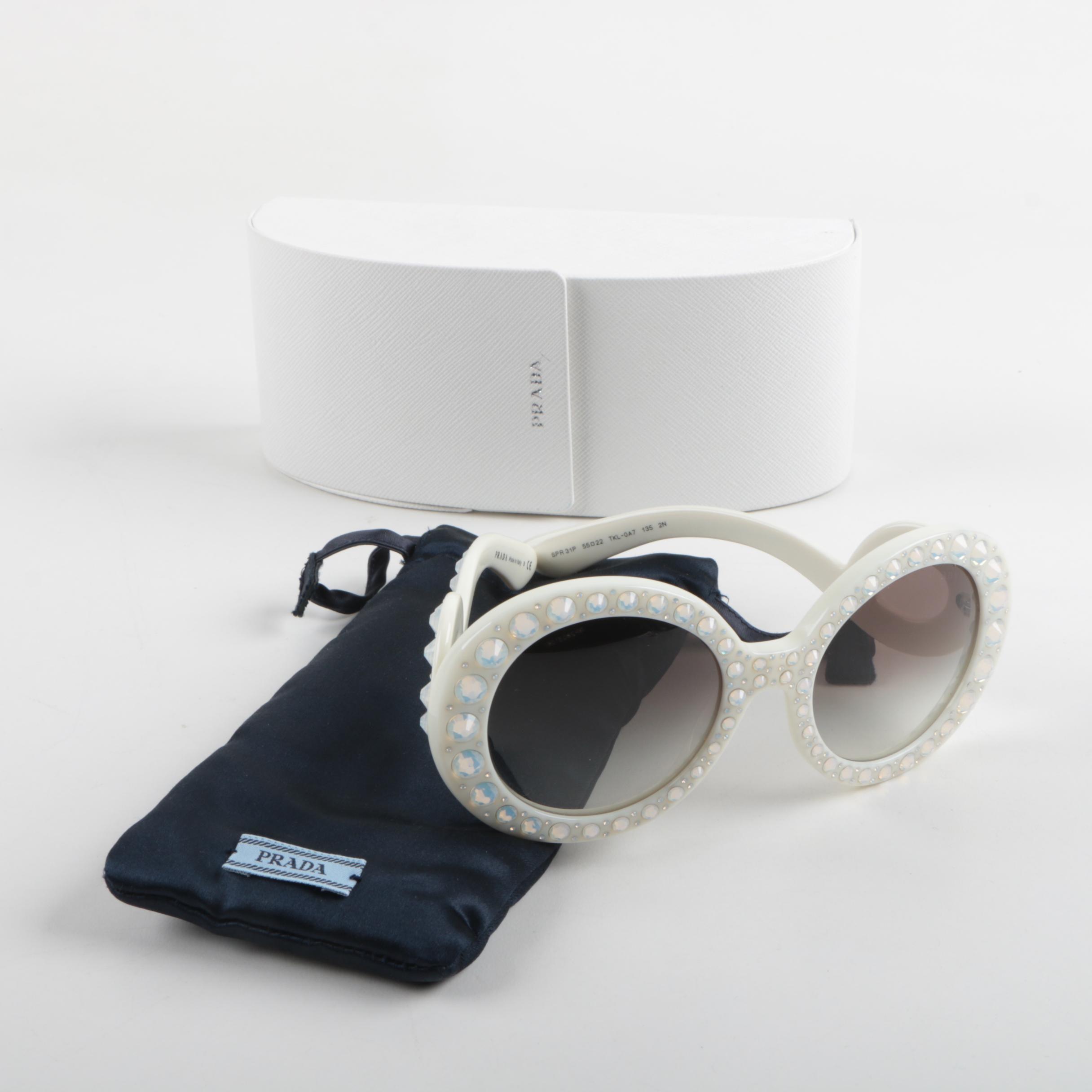 Women's Prada Baroque Sunglasses with Case